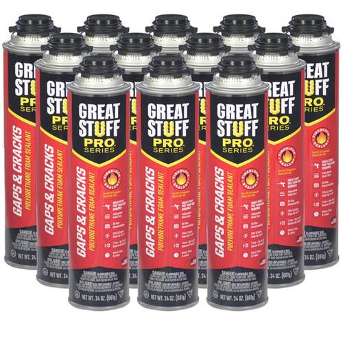 Great Stuff Pro™ Gaps & Cracks Fireblock Foam, 24oz, Full Case