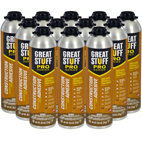 Great Stuff Pro™ Wall & Floor, 26.5oz Pro Can, Full Case (12 Cans)