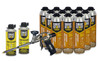 Contents: Pro Foam Gun, 12-26.5 oz Cans Wall & Floor Adhesive, 2 Cans Cleaner