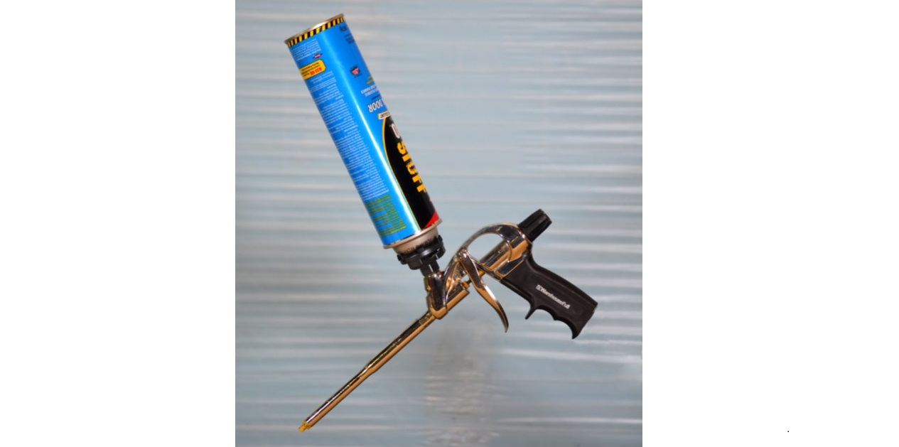 Foam Gun with Can Attached