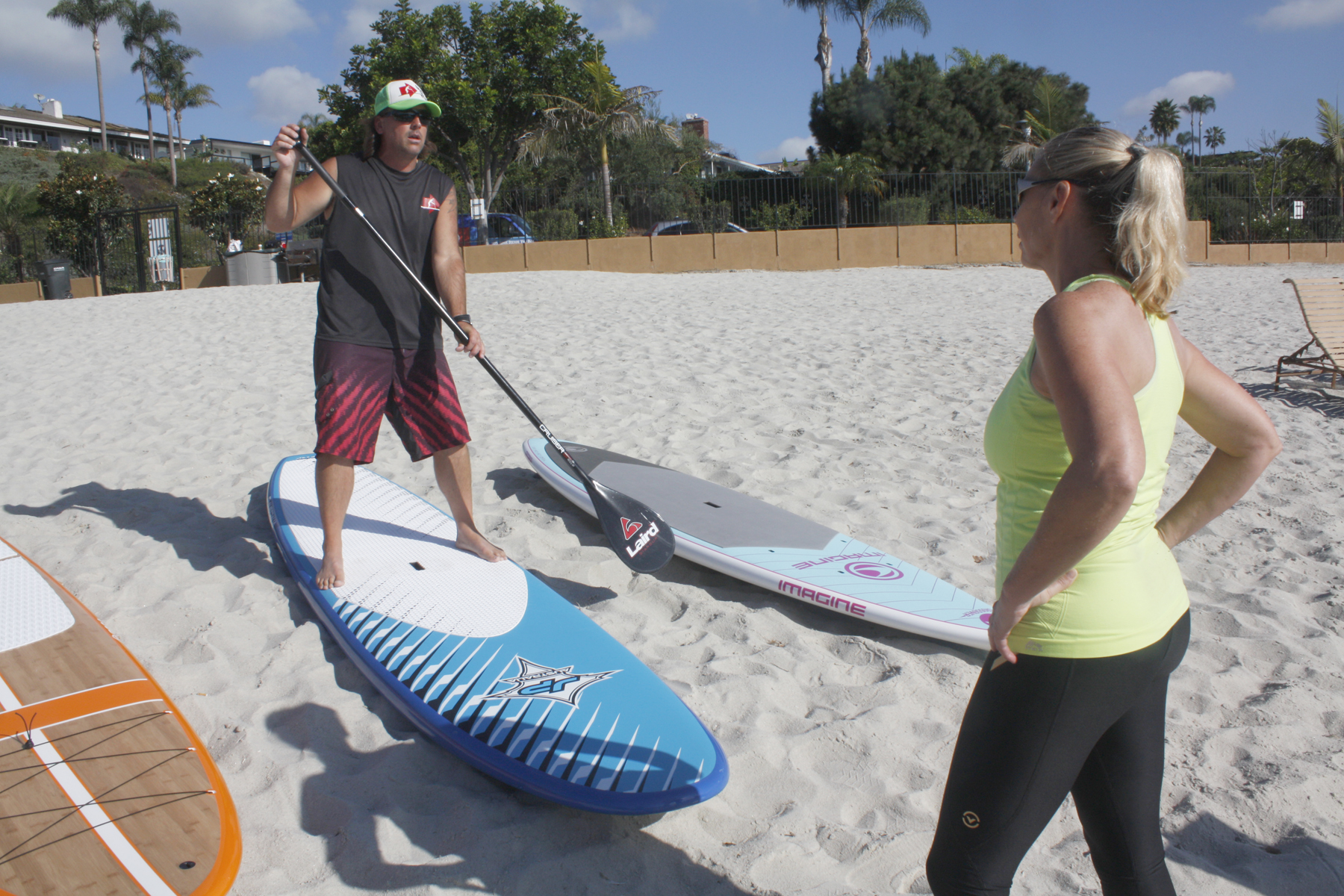 SUP clinic during private demo