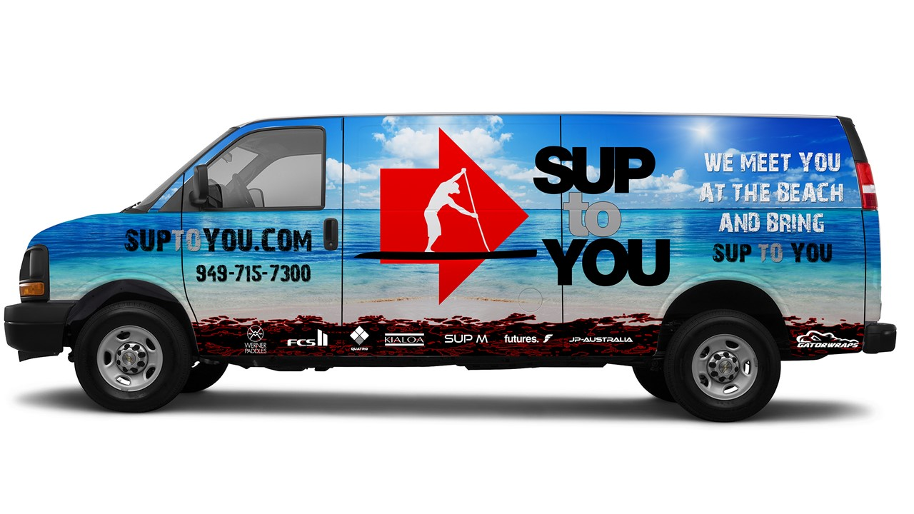 SUP TO YOU delivery van with logo