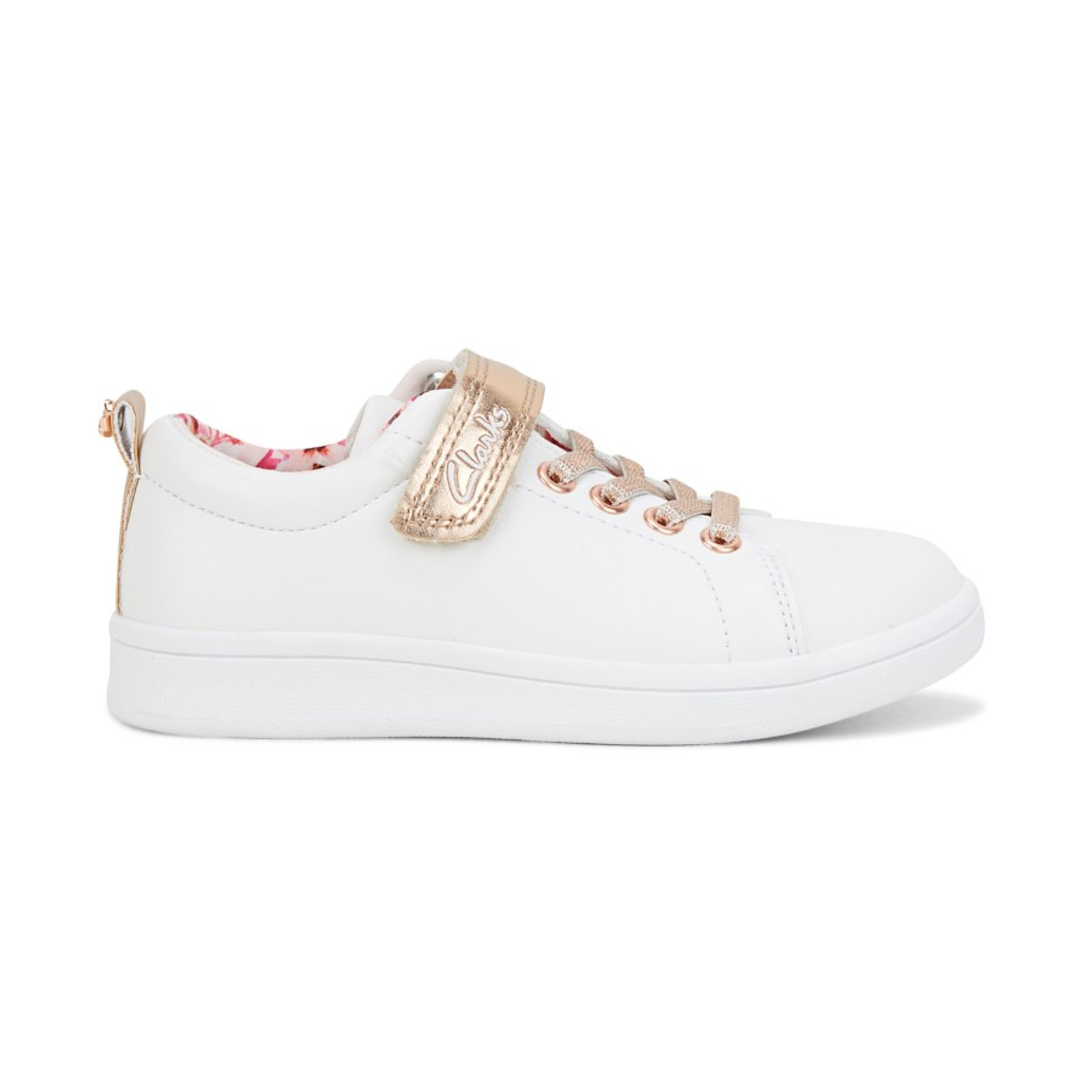 Duffy Jnr White/Rose Gold By Clarks