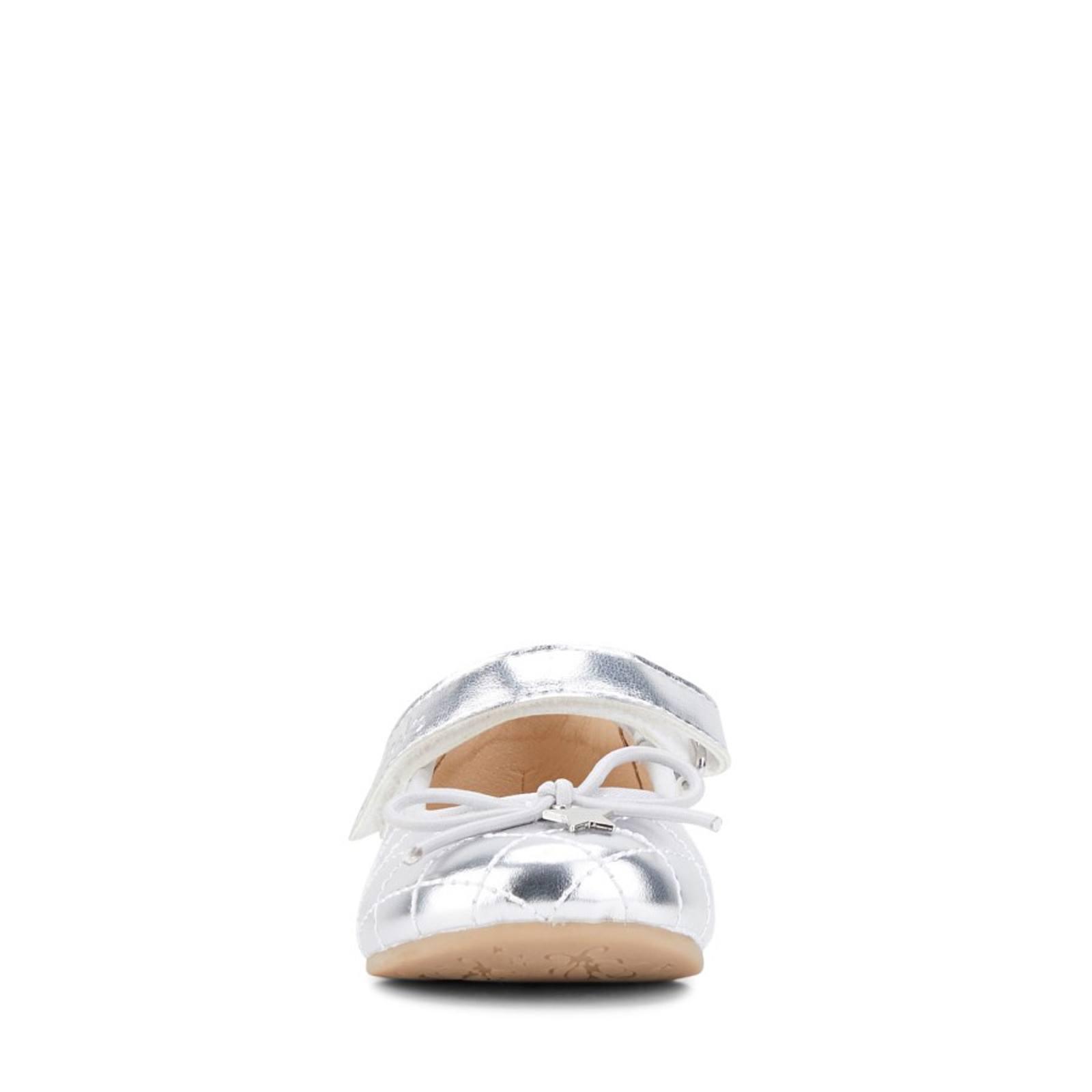 Clarks Girls Silver  AVA JUNIOR