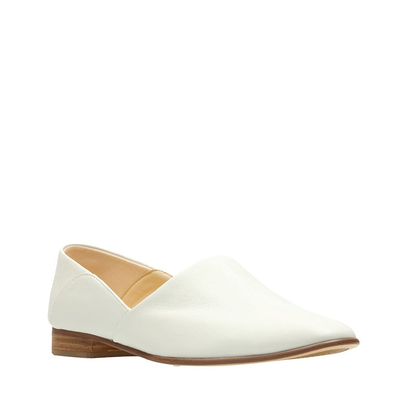 Clarks Womens White Leather  PURE TONE