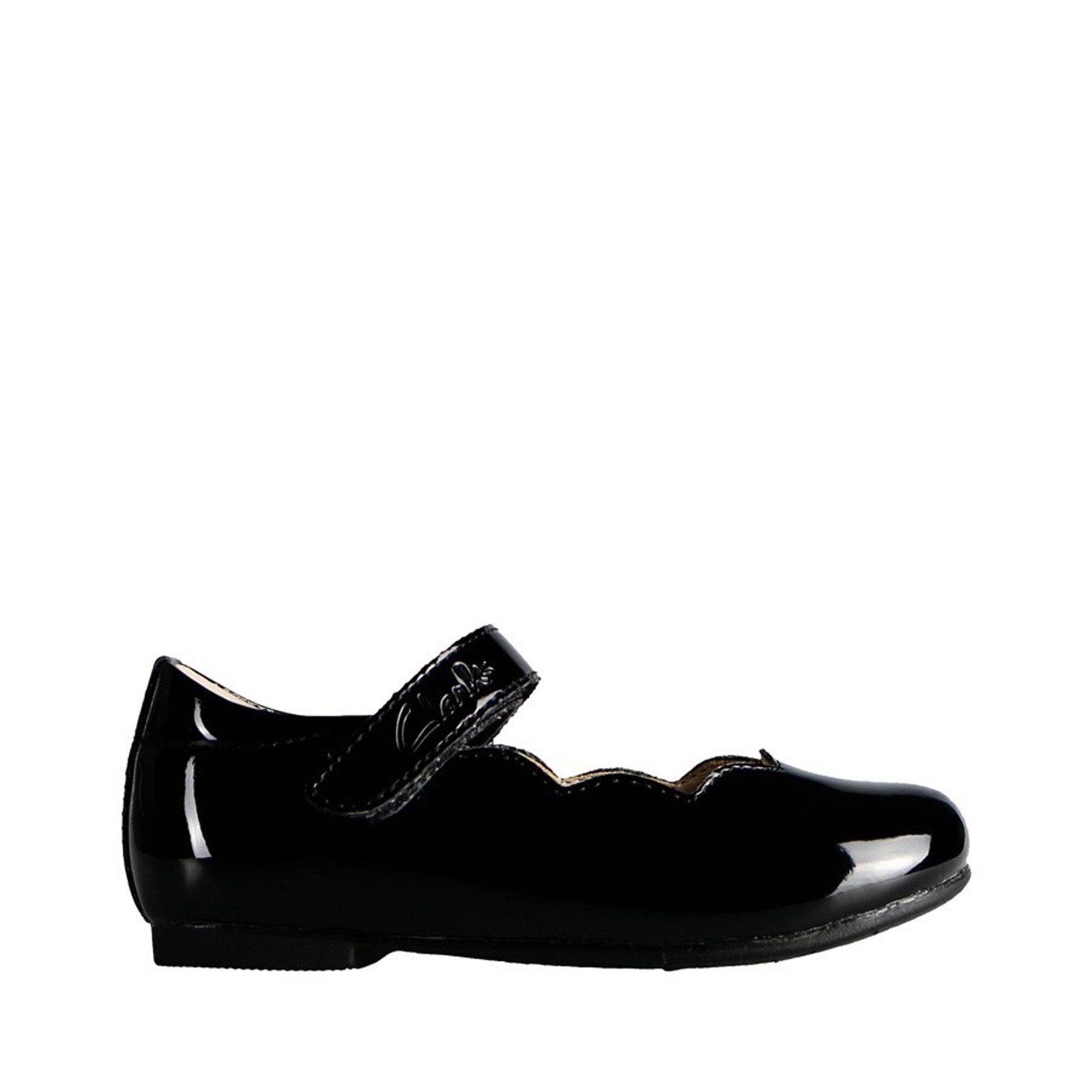 Clarks Girls AUDREY JUNIOR Black Patent