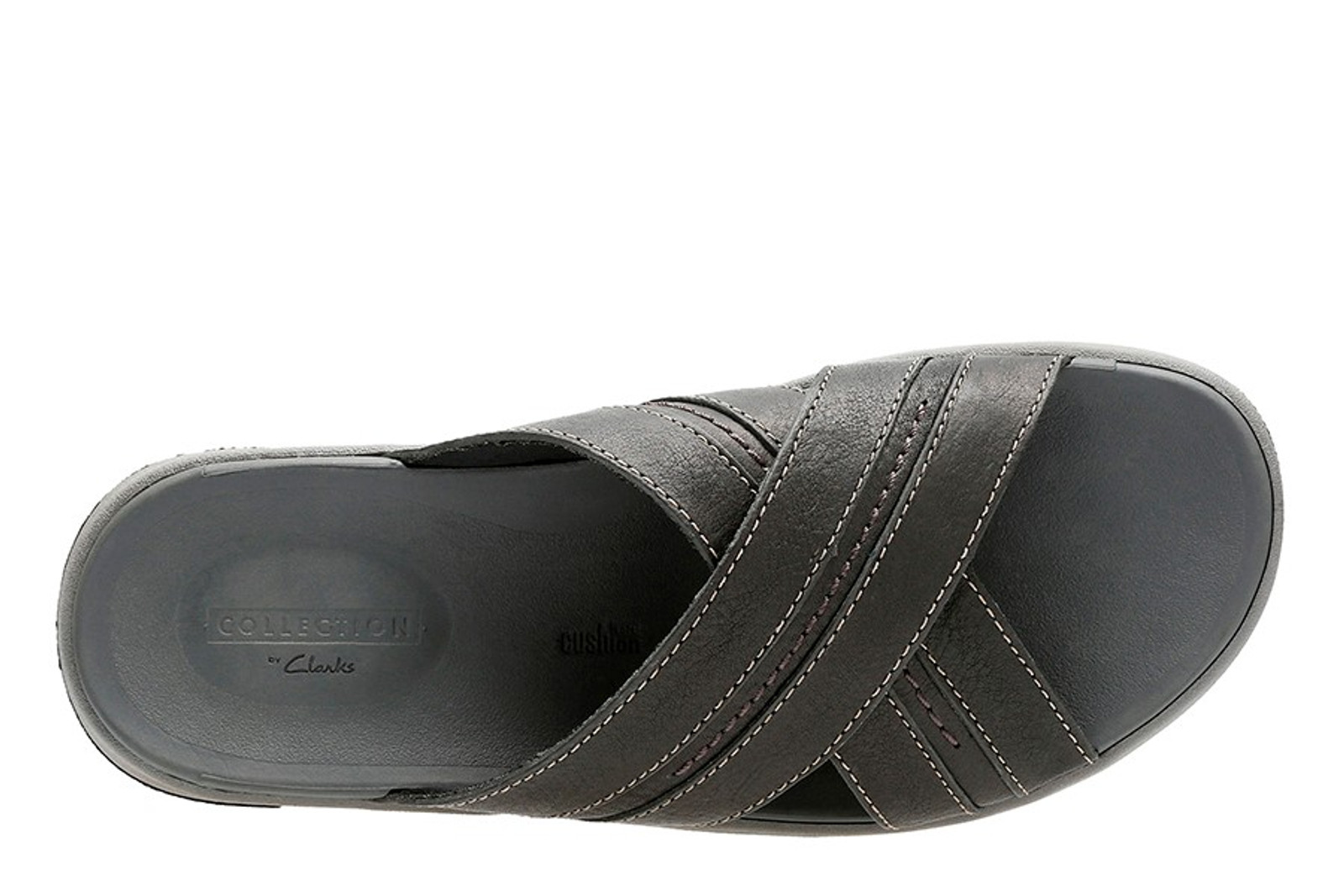Clarks Mens BRIXBY CROSS Black Leather
