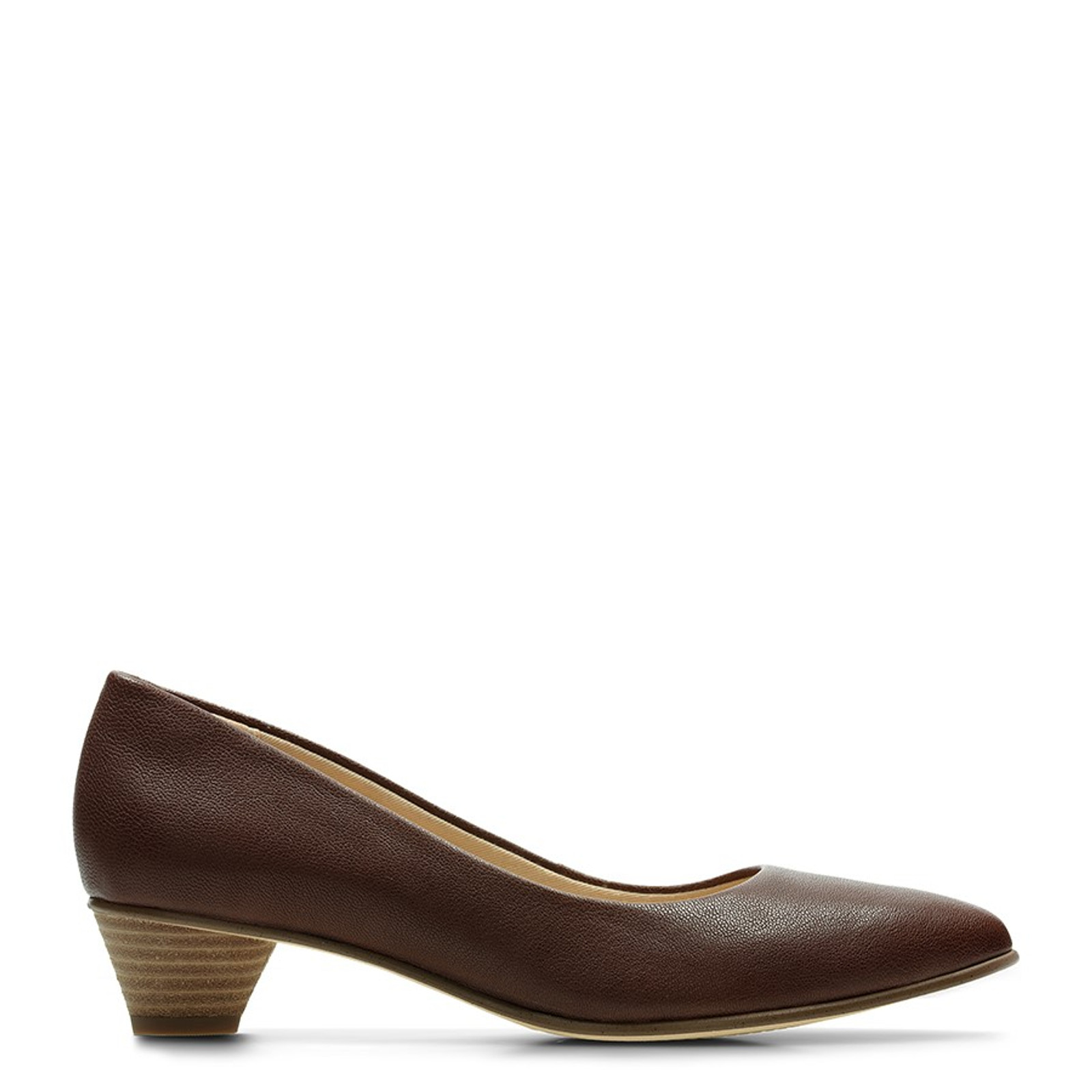 Clarks Womens MENA BLOOM Tan Leather