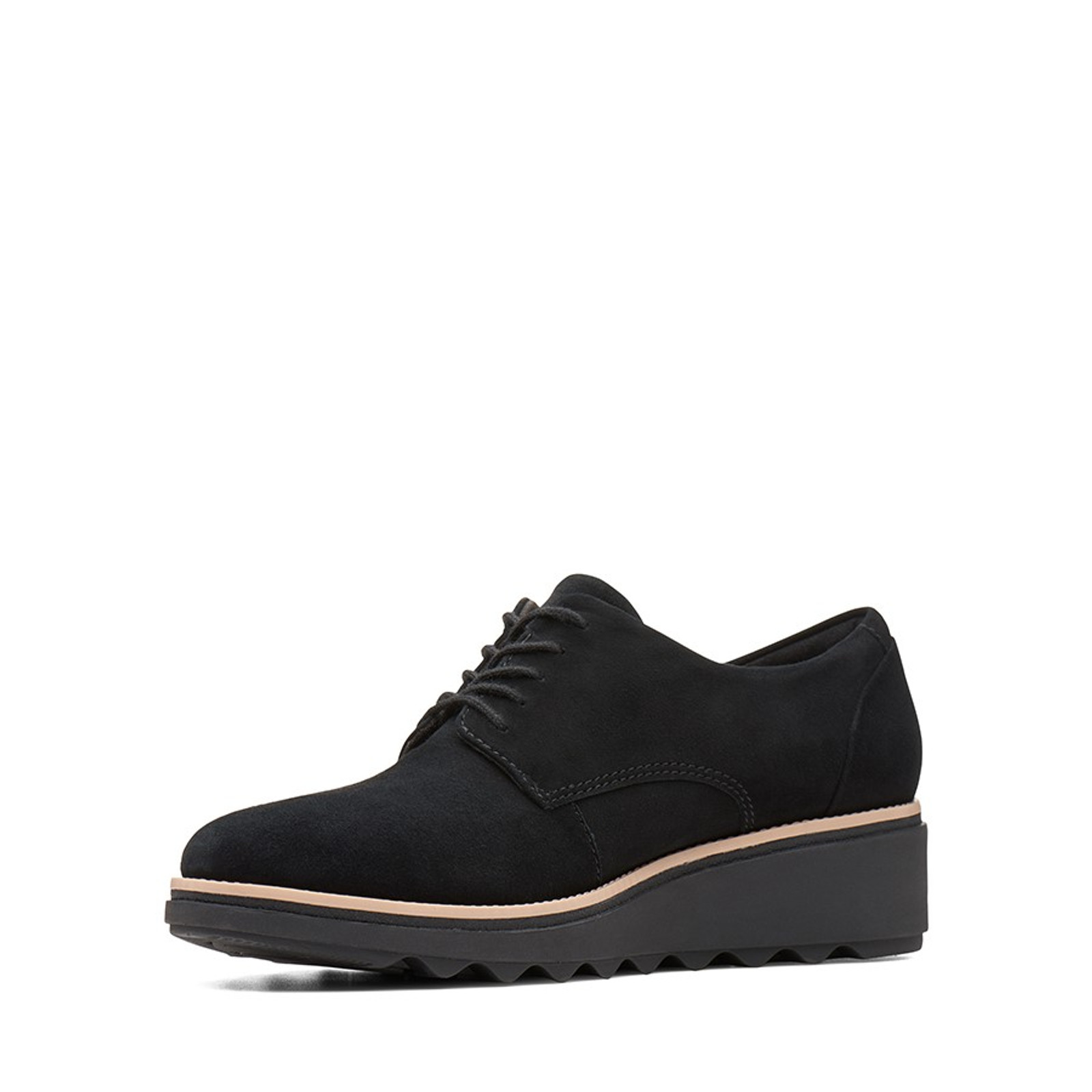 Clarks Womens SHARON NOEL Black Nubuck