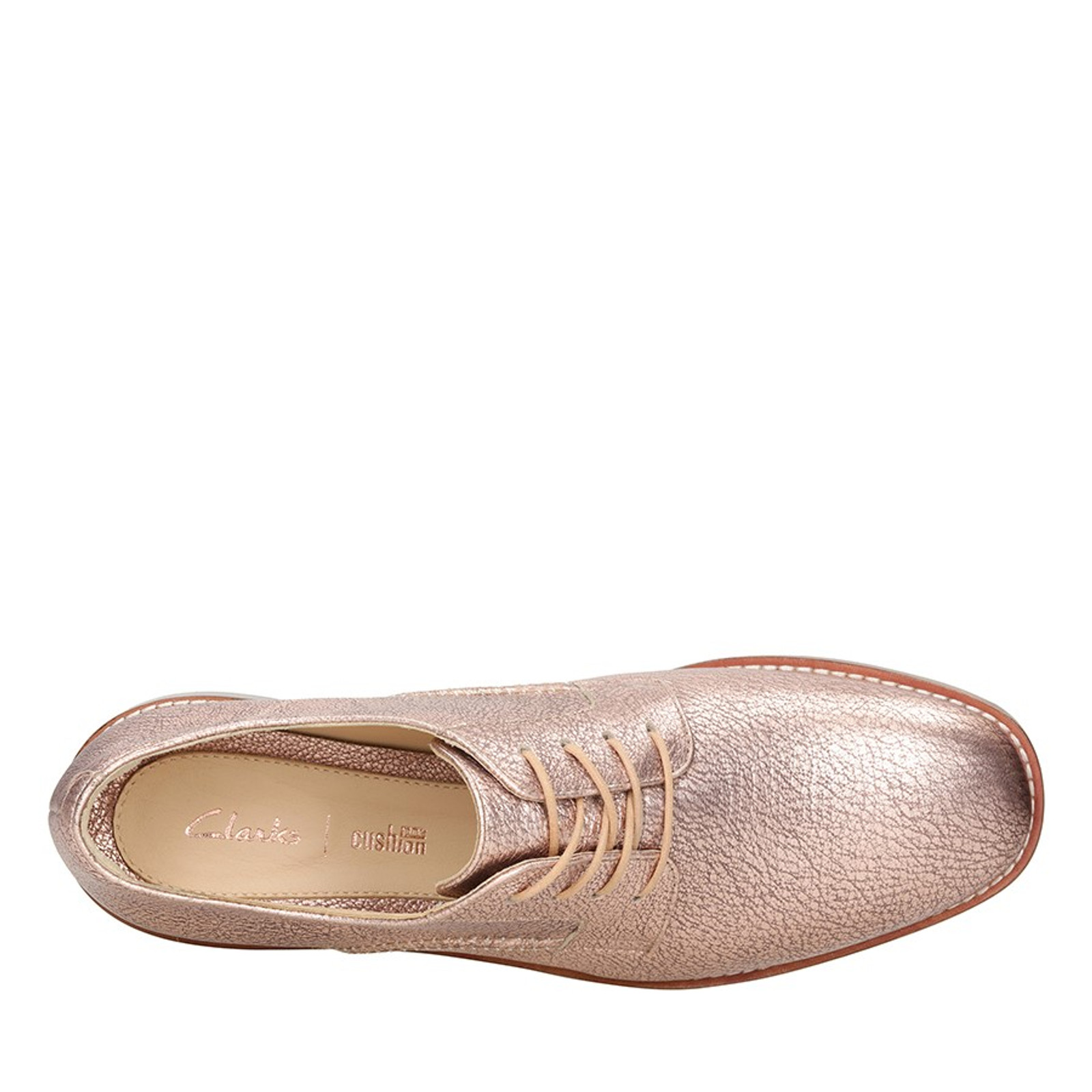 Clarks Womens ELLIS SCARLETT Rose Gold Leather