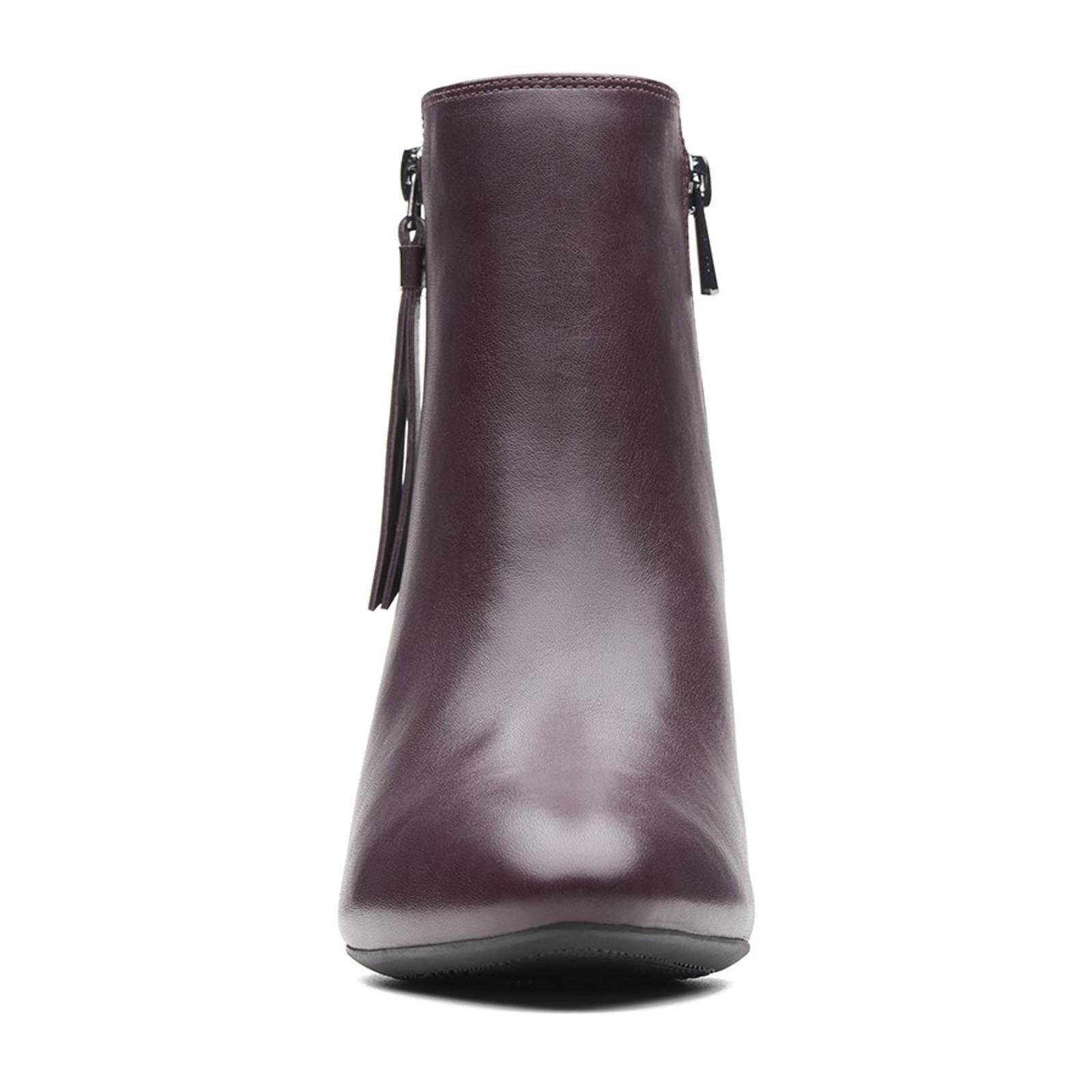 Clarks Womens CALLA BLOSSOM Aubergine Leather