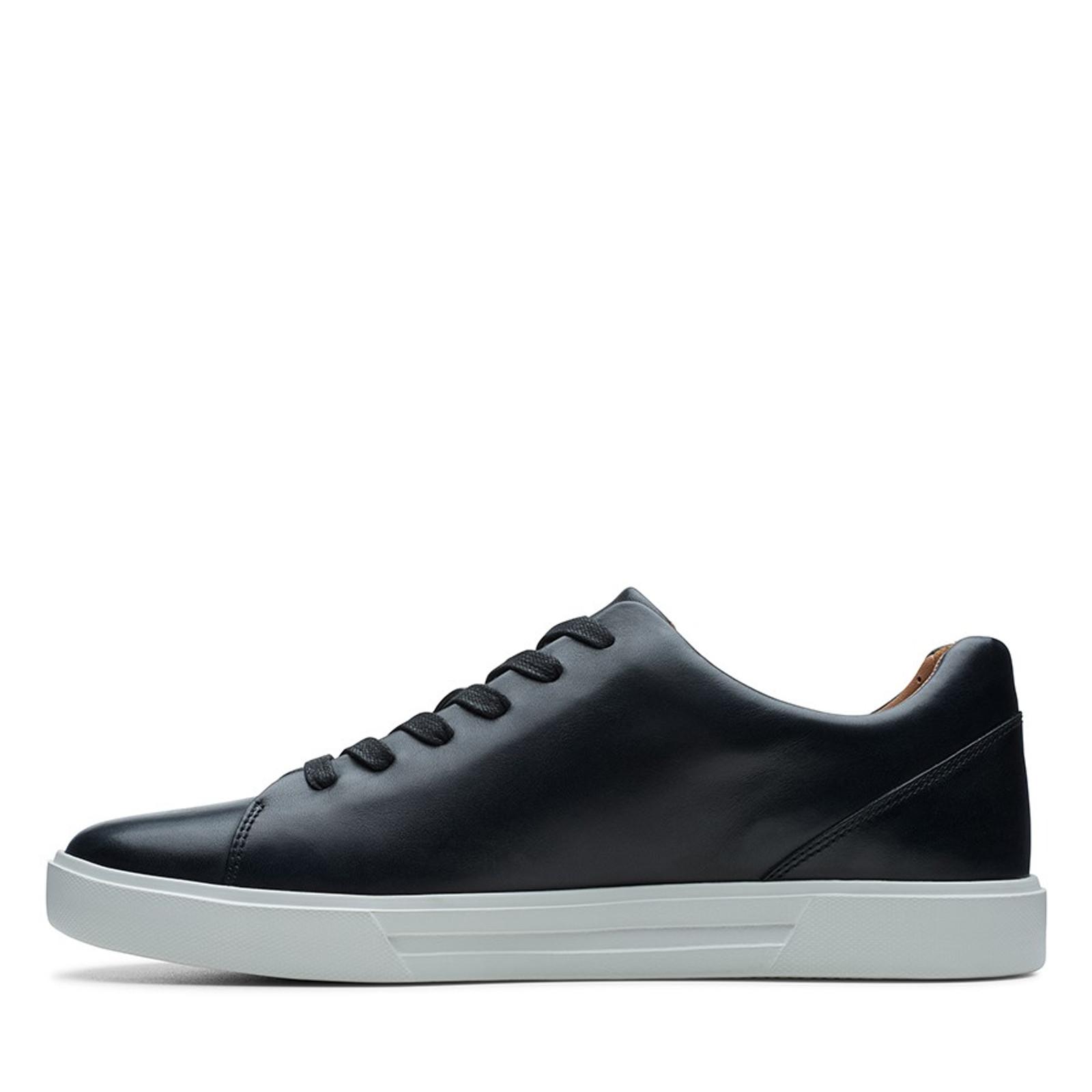 Clarks Mens UN COSTA LACE Black Leather