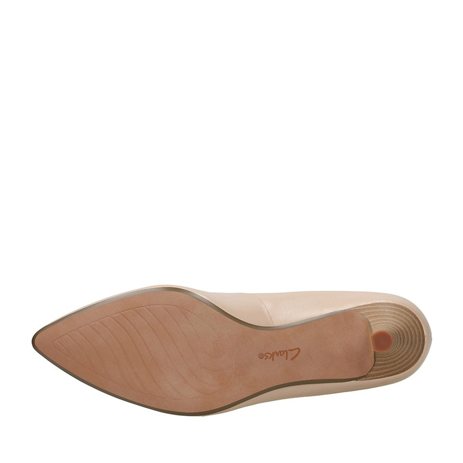 Clarks Womens LINVALE JERICA Nude Leather