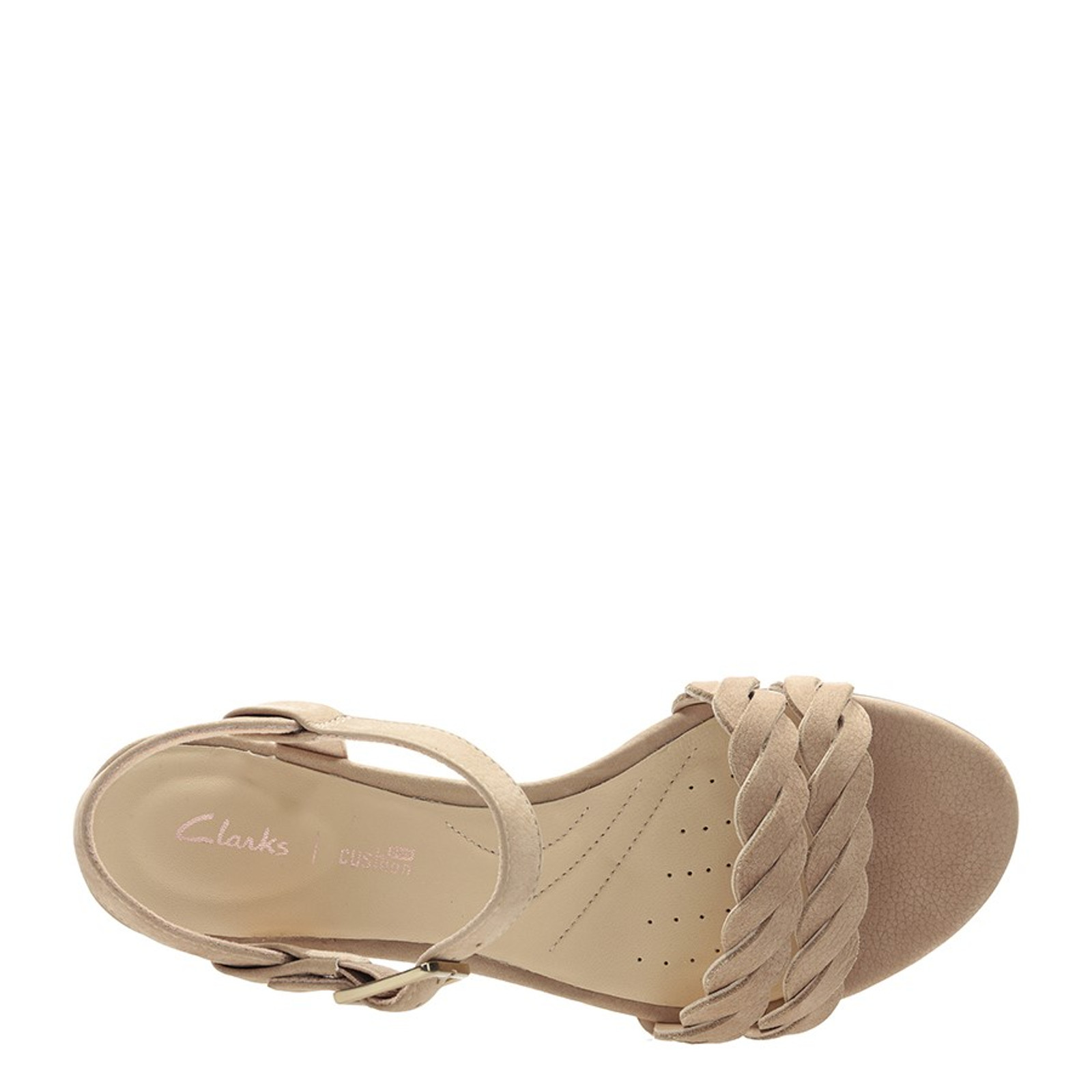 Clarks Womens MENA BLOSSOM Nude Leather