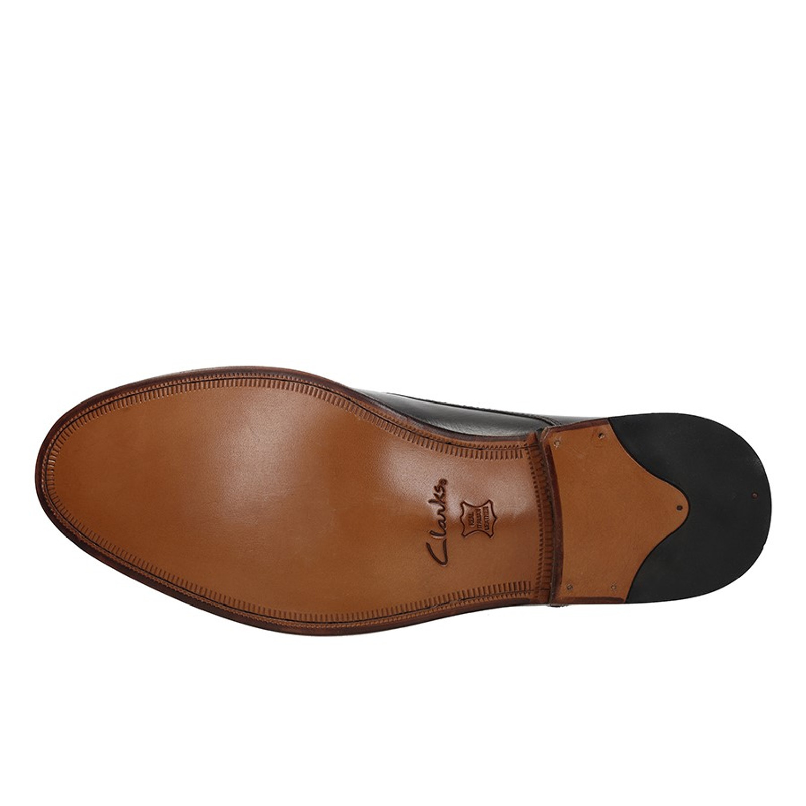 Clarks Mens JAMES CAP Dark Brown Leather