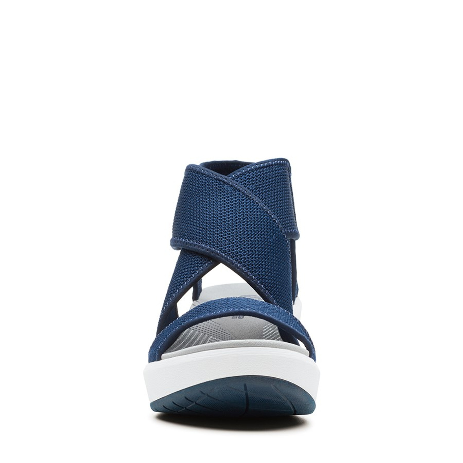 Clarks Womens STEP CALI PALM Navy Textile Knit
