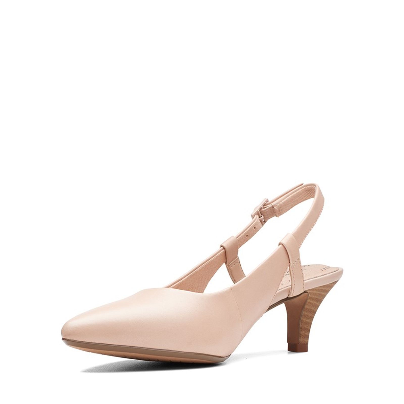 Clarks Womens LINVALE LOOP Nude Leather