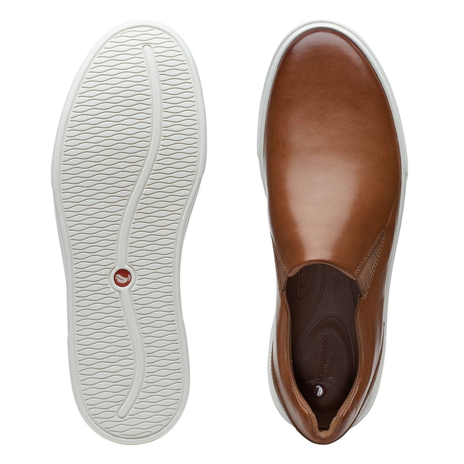 Clarks Mens UN COSTA STEP Tan Leather