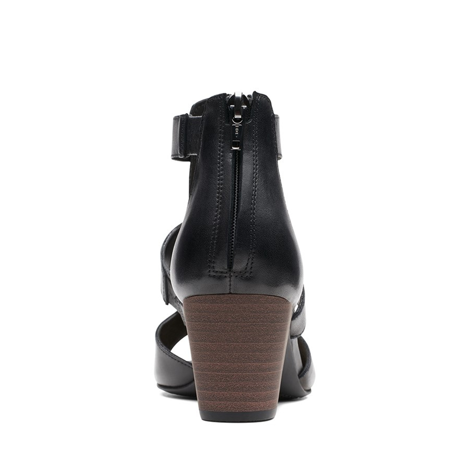 Clarks Womens DELORIA FAE Black Leather