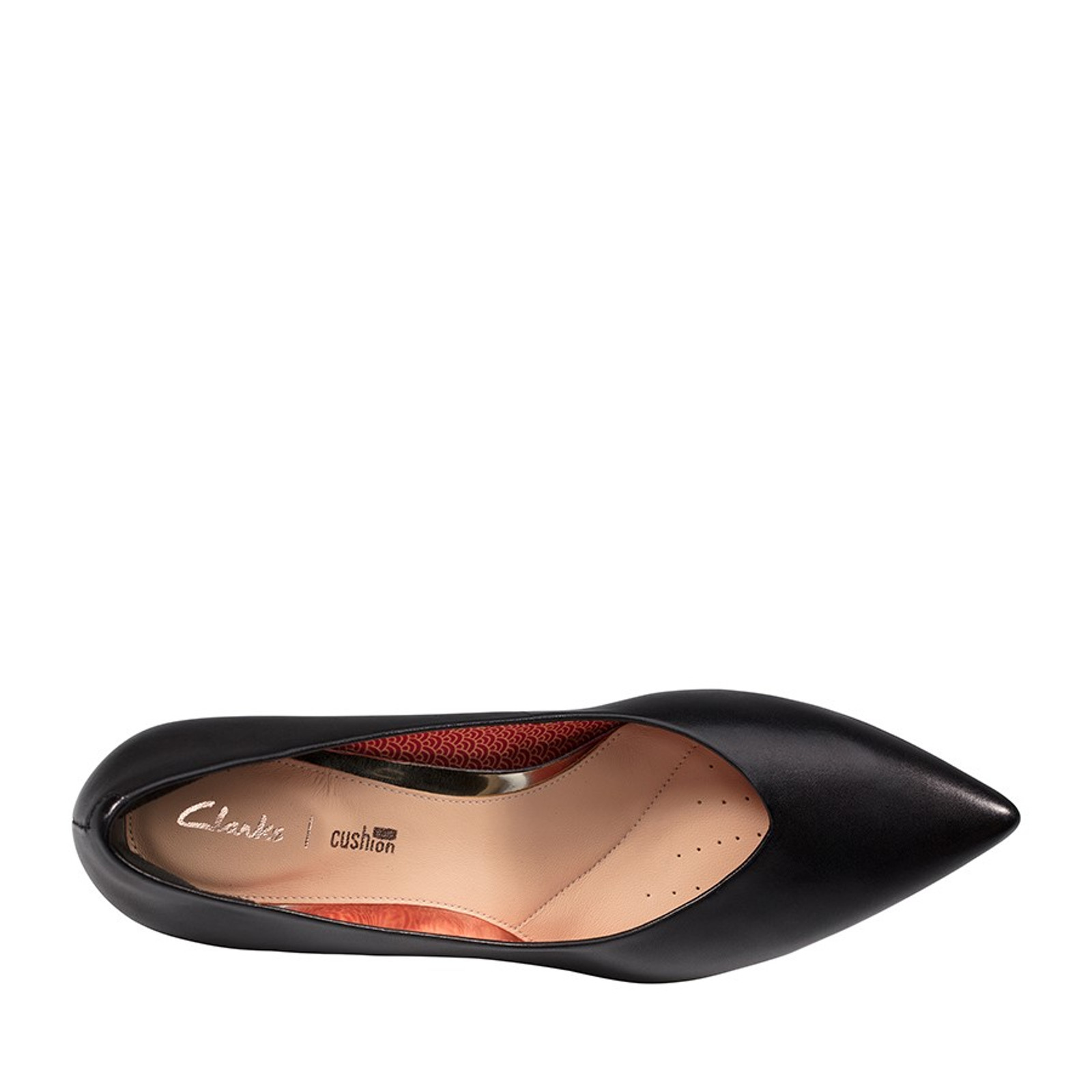 Clarks Womens LAINA55 COURT Black Interest Leather
