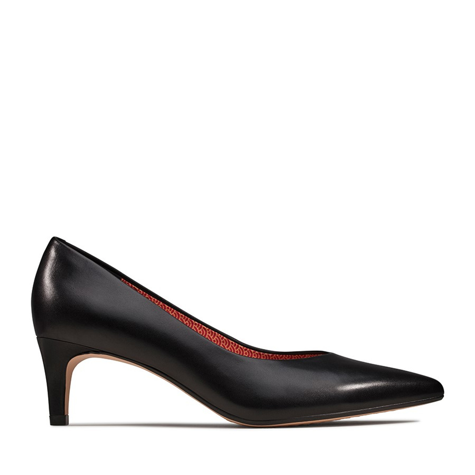 Clarks Womens LAINA55 COURT Black Interest Leather