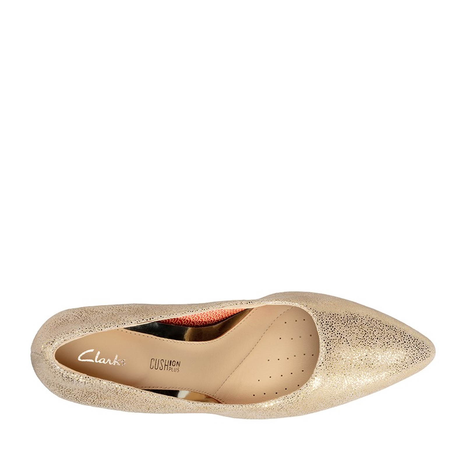 Clarks Womens LAINA RAE Gold Metallic