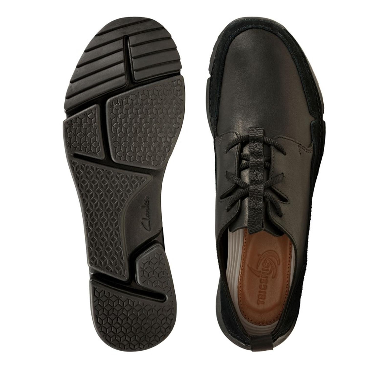 Clarks Mens TRI SOLAR Black Leather