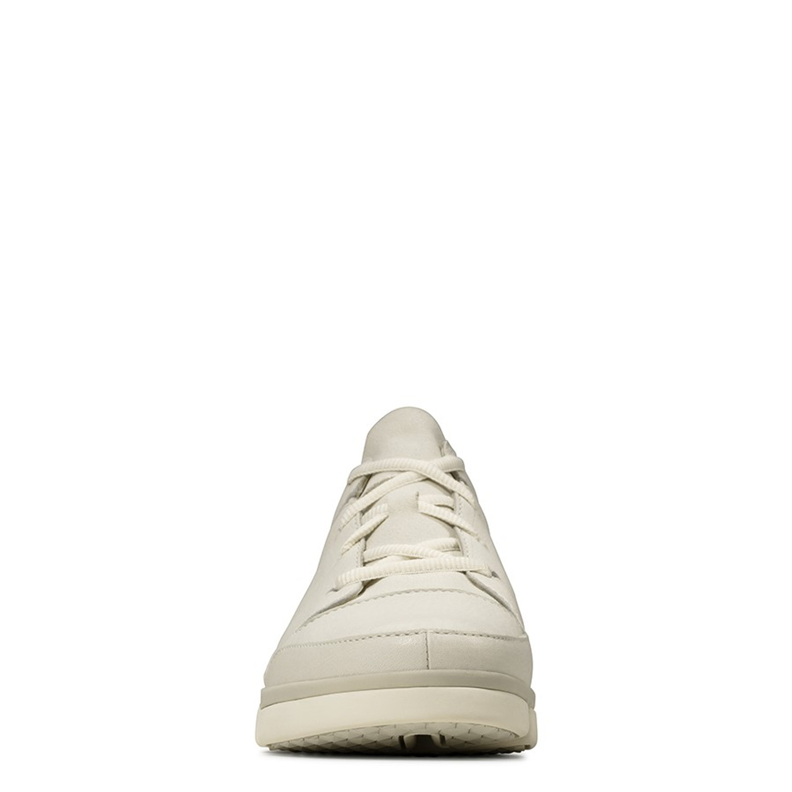 Clarks Womens TRI TURN White Leather