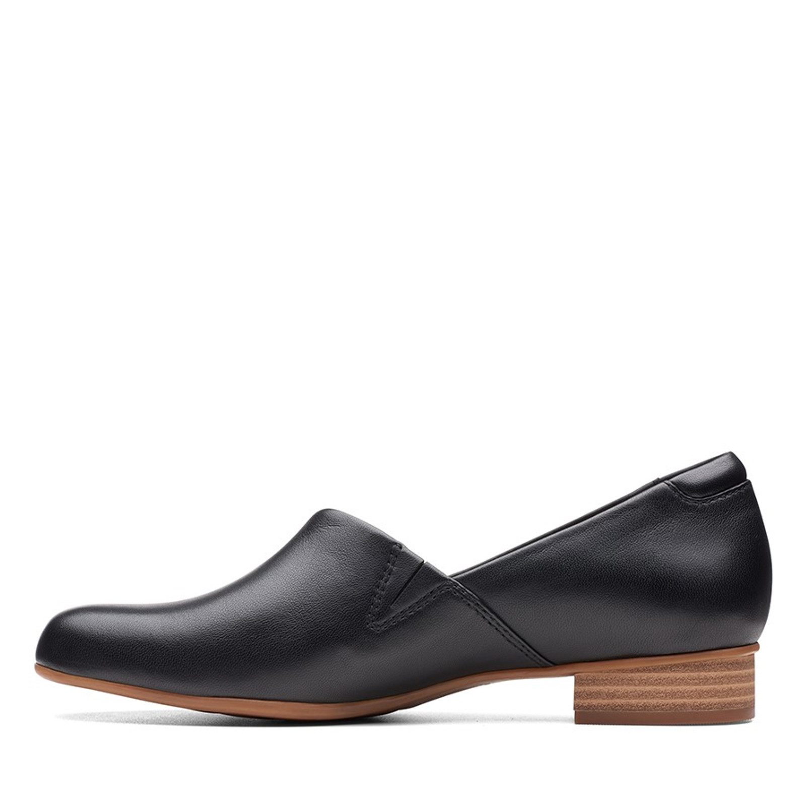 Clarks Womens JULIET PALM Black Leather