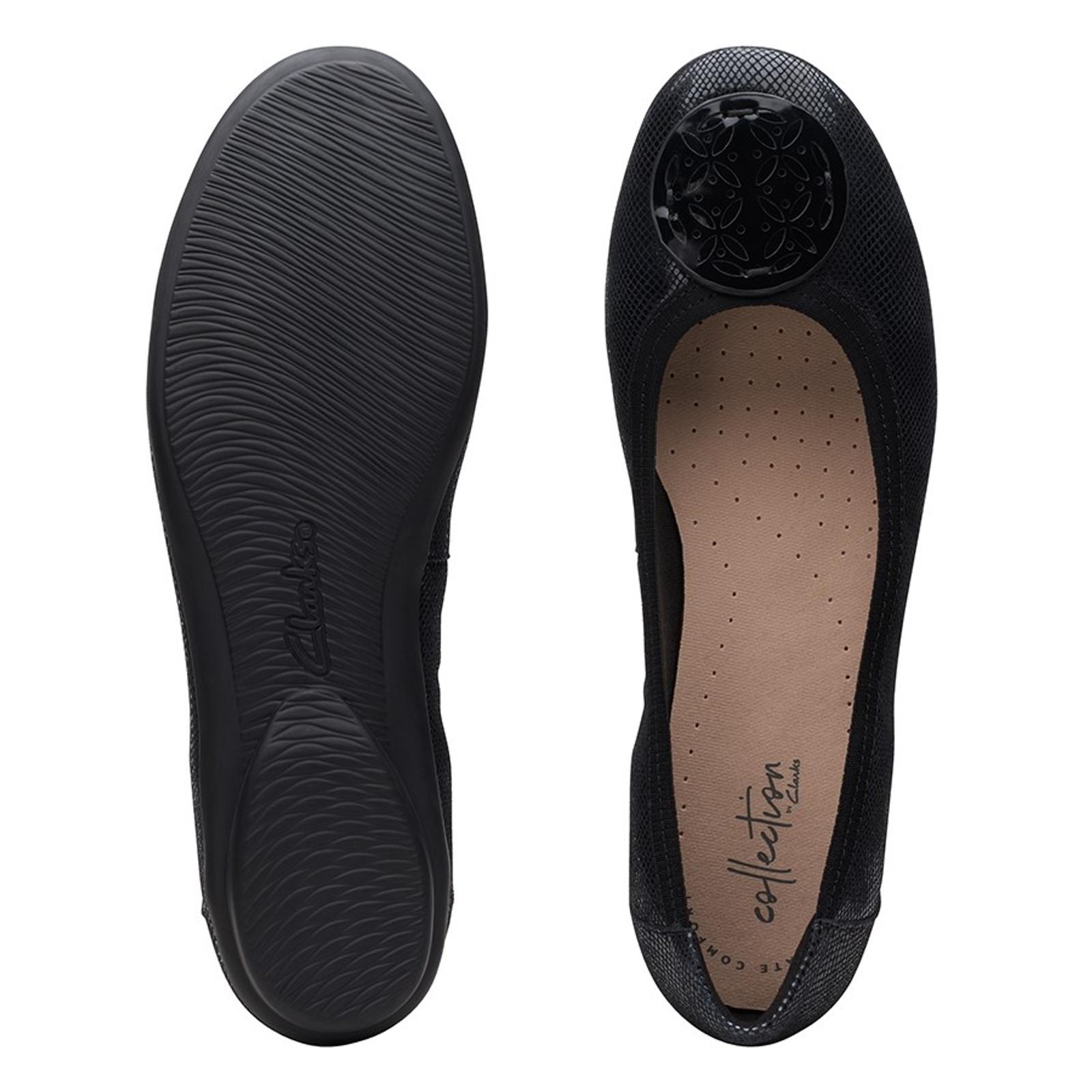 Clarks Womens GRACELIN LOLA Black Interest Leather