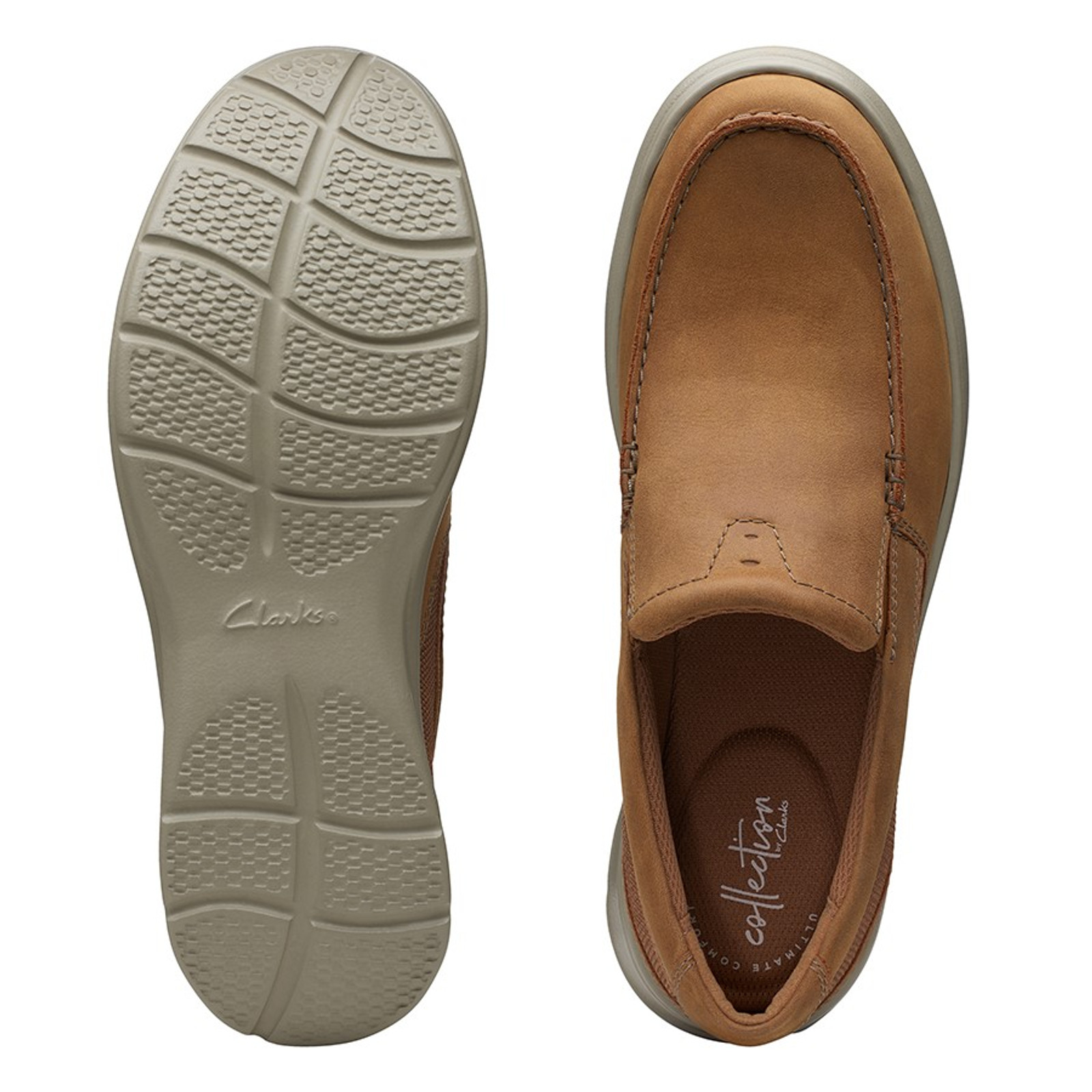 Clarks Mens COTRELL EASY Tan Combo
