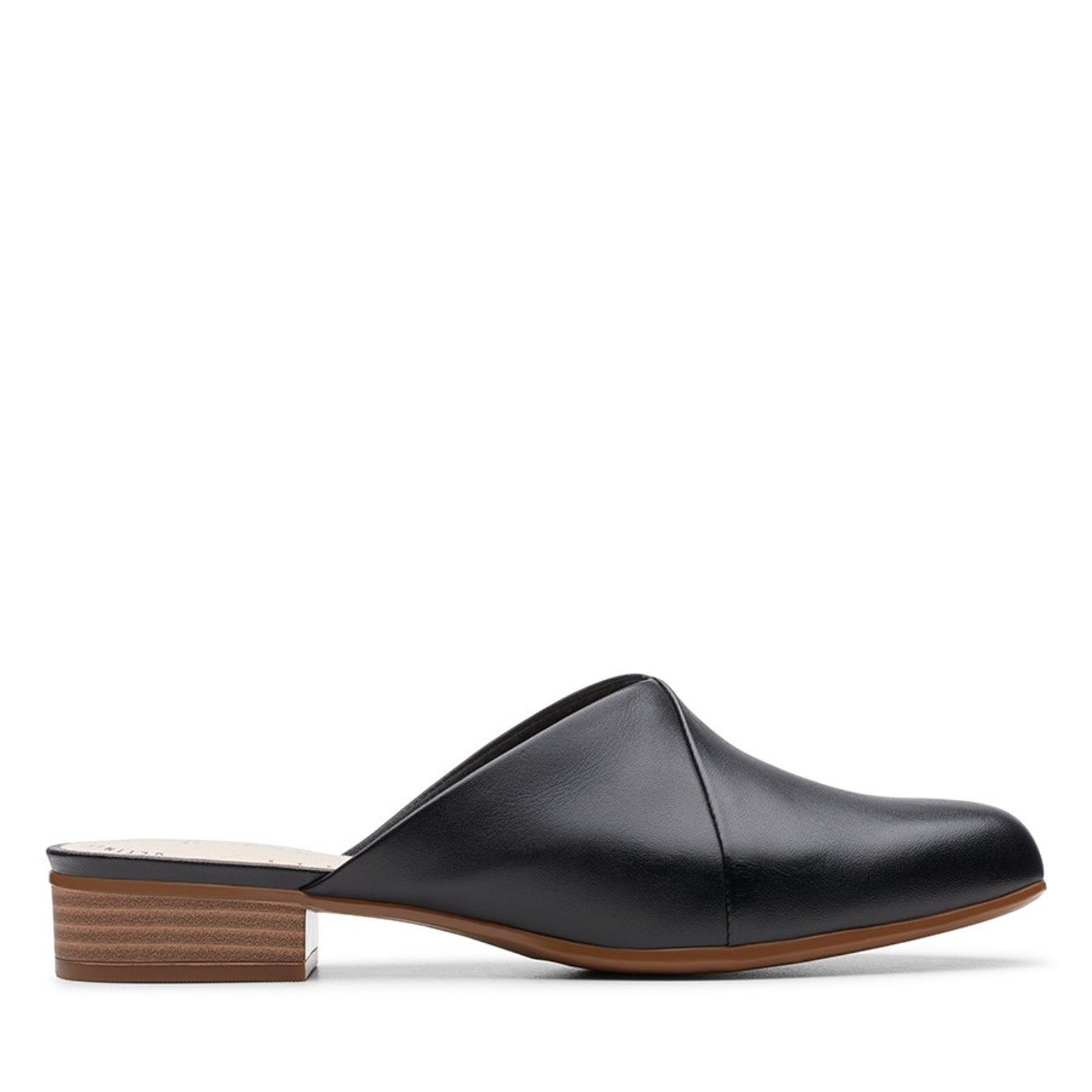 Clarks Womens JULIET WILLOW Black Leather