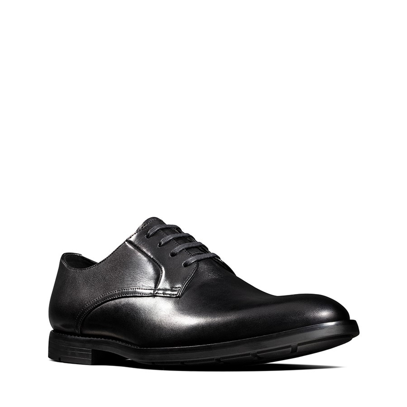 Clarks Mens RONNIE WALK Black Leather