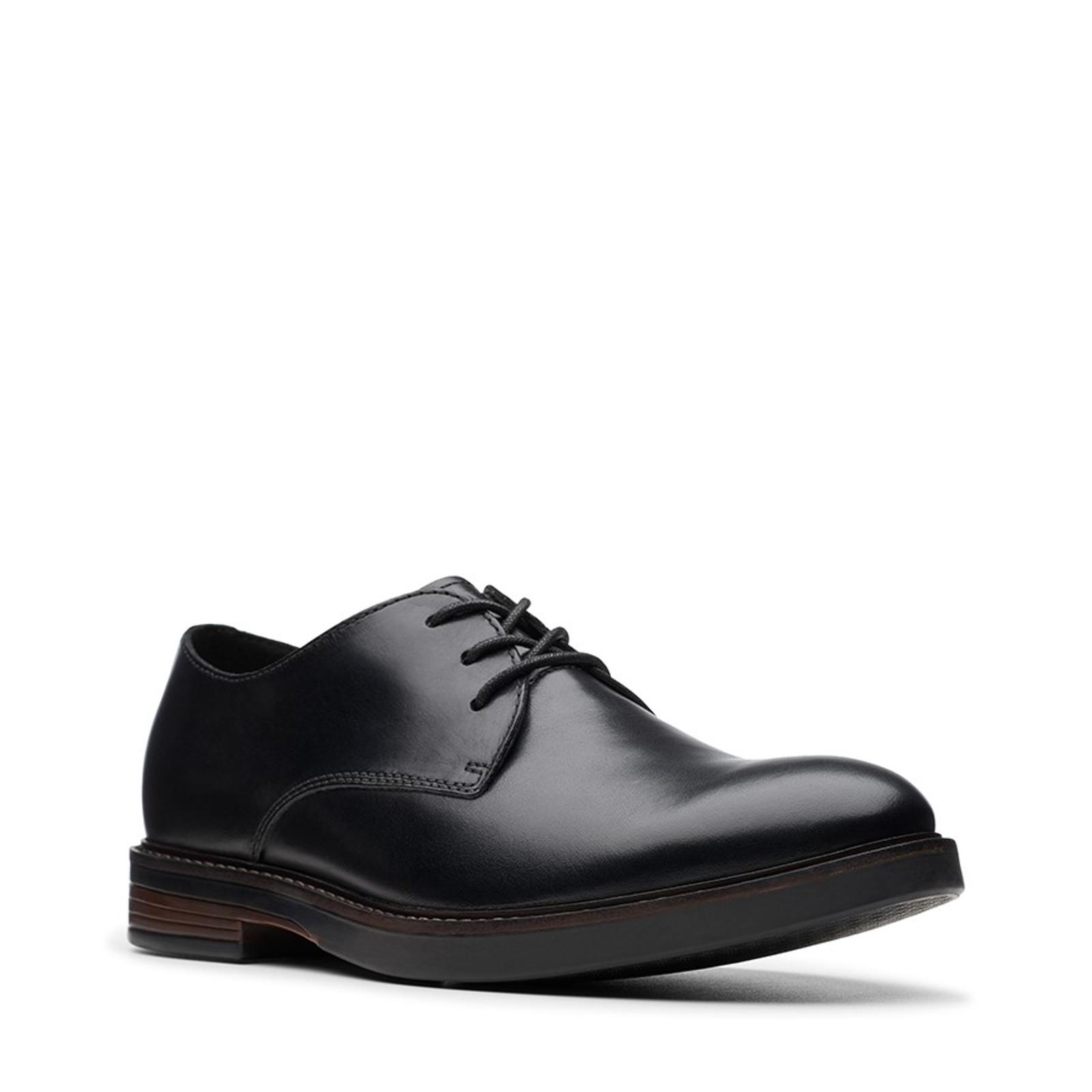 Clarks Mens PAULSON PLAIN Black Leather