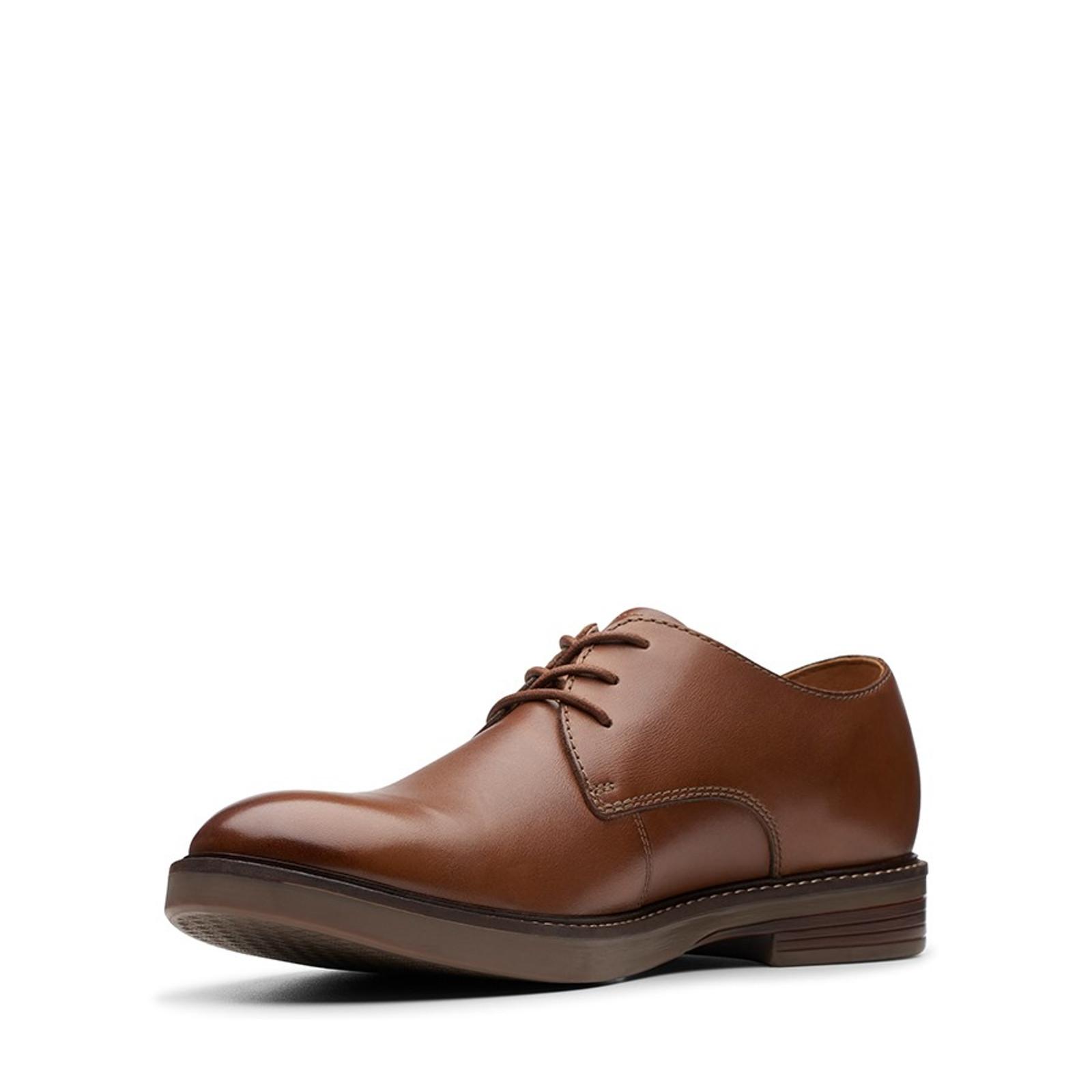 Clarks Mens PAULSON PLAIN Tan Leather