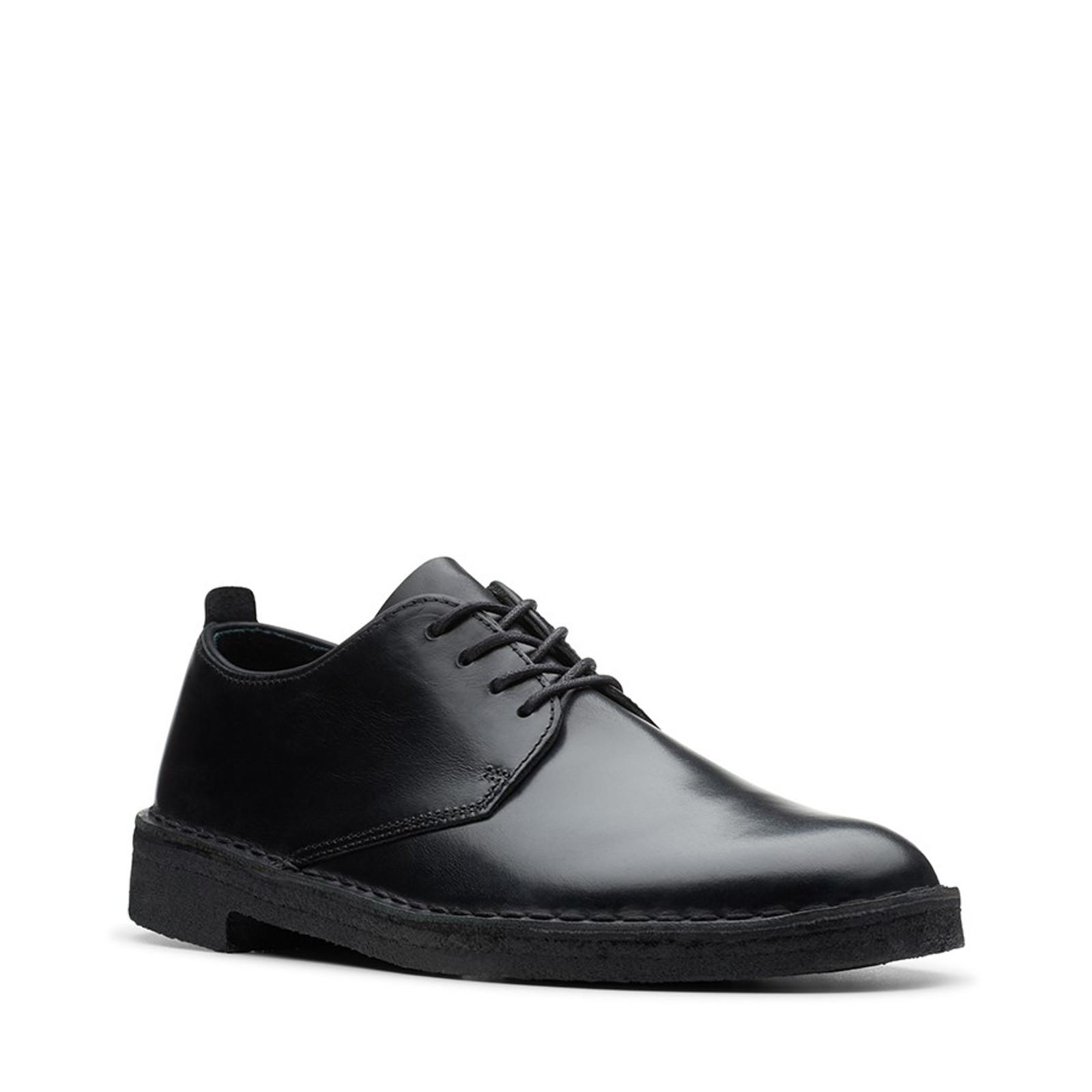 Clarks Mens DESERT LONDON 2 Black Leather