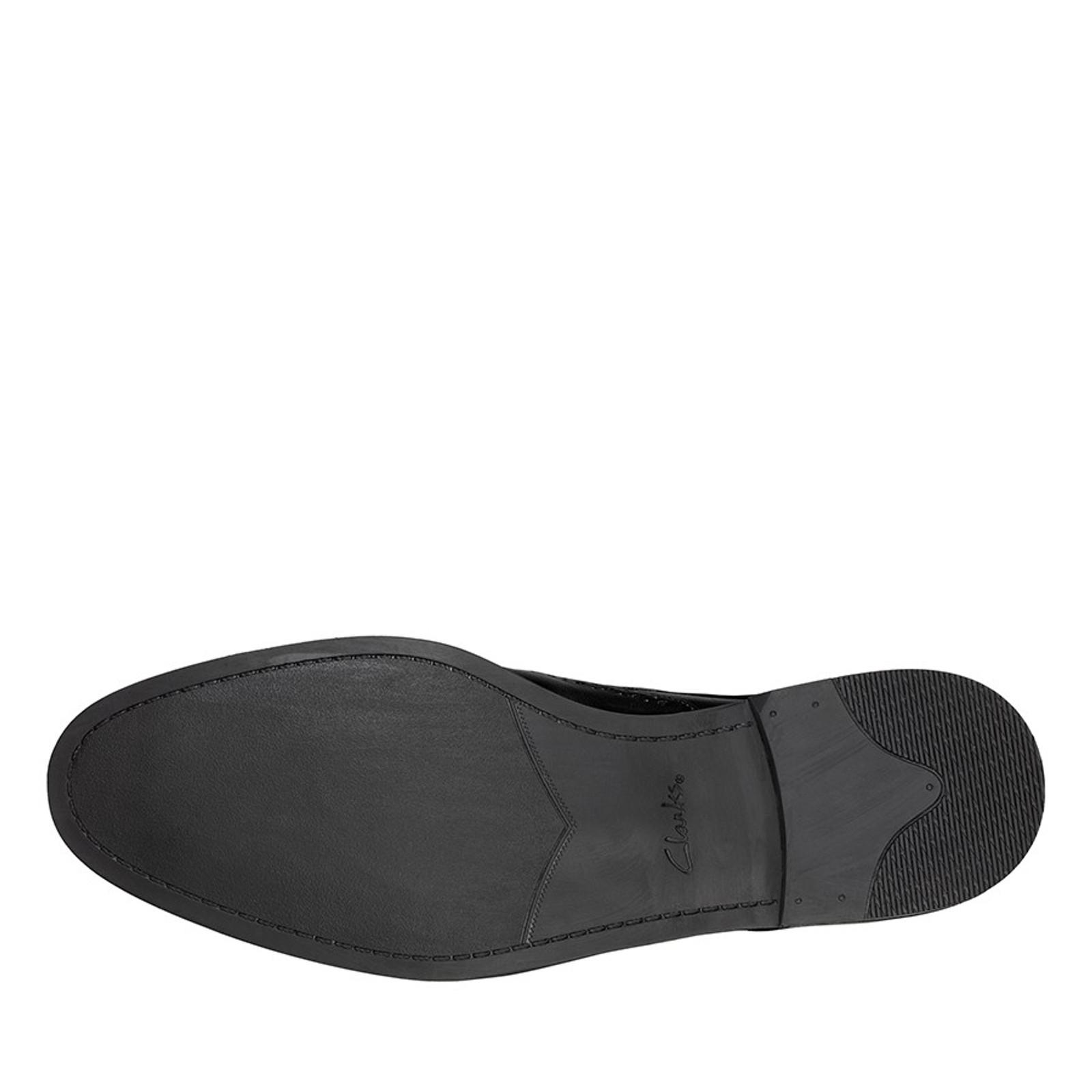Clarks Mens STANFORD LIMIT Black Leather