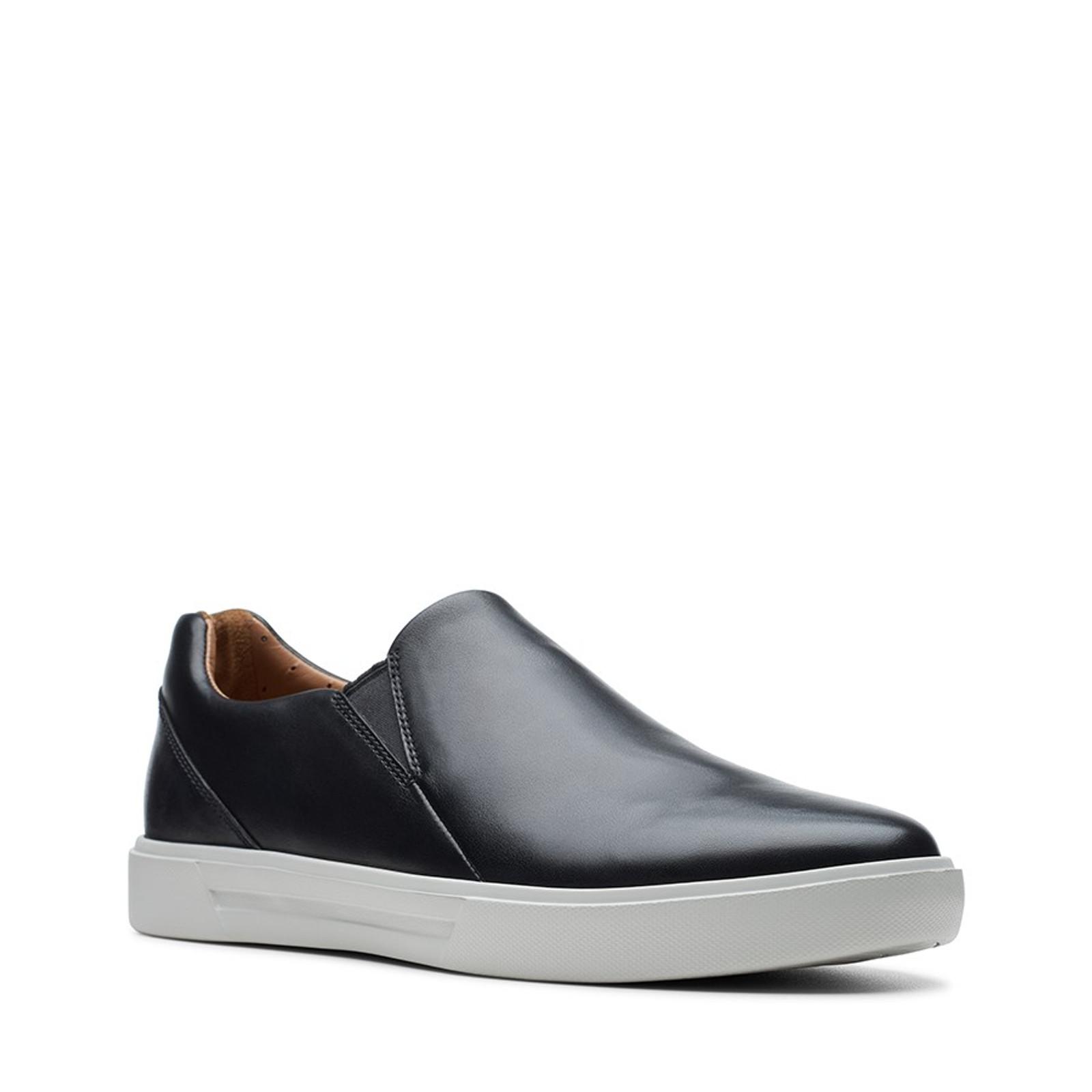 Clarks Mens UN COSTA STEP Black Leather