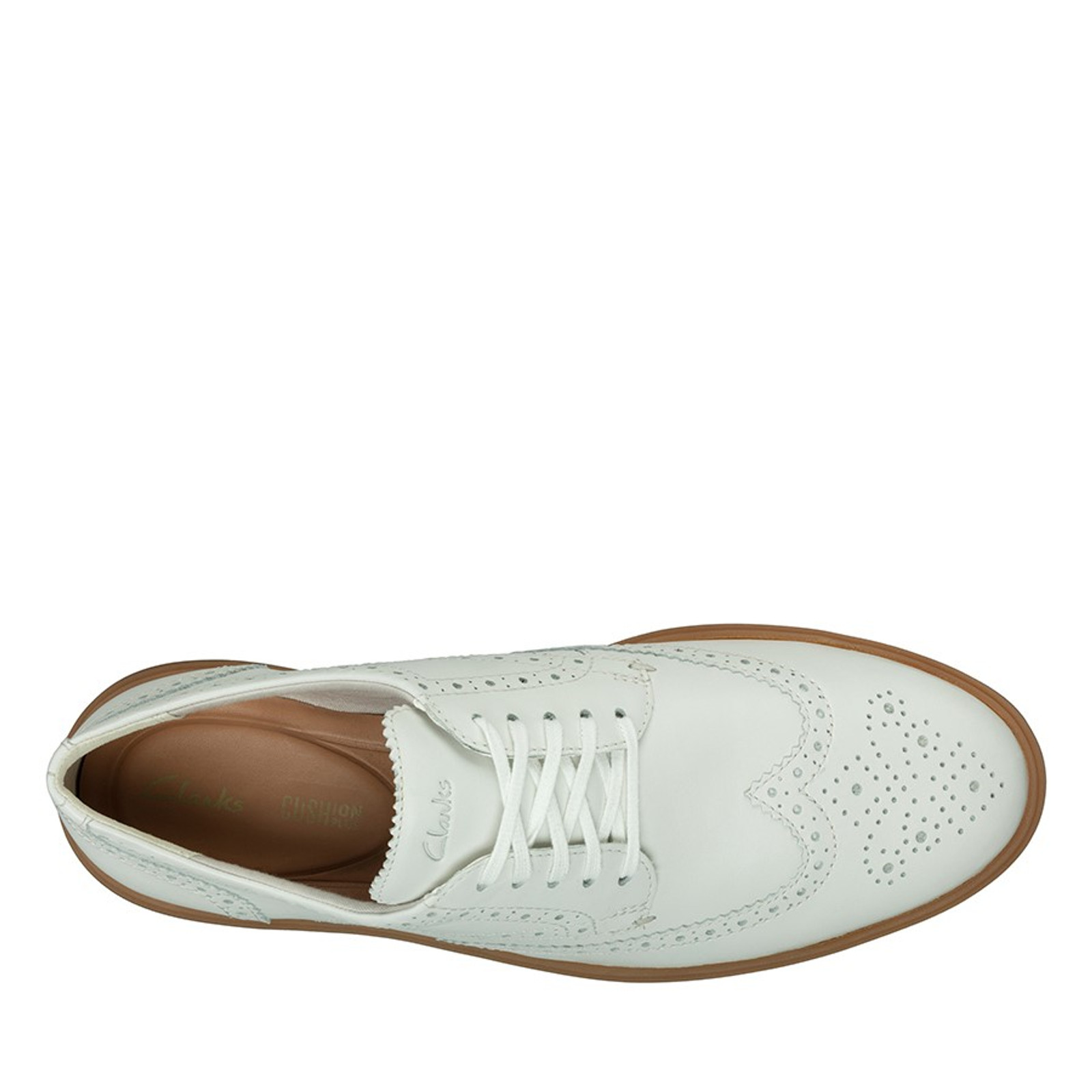 Clarks Mens HERO LIMIT White Leather