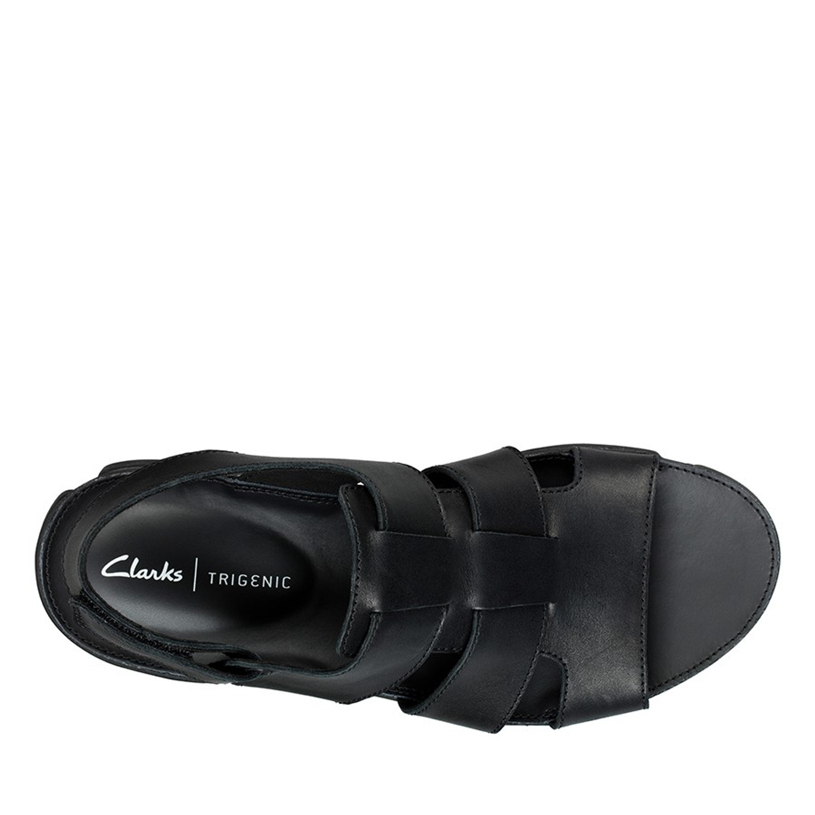 Clarks Mens TRI COVE SKY Black Leather