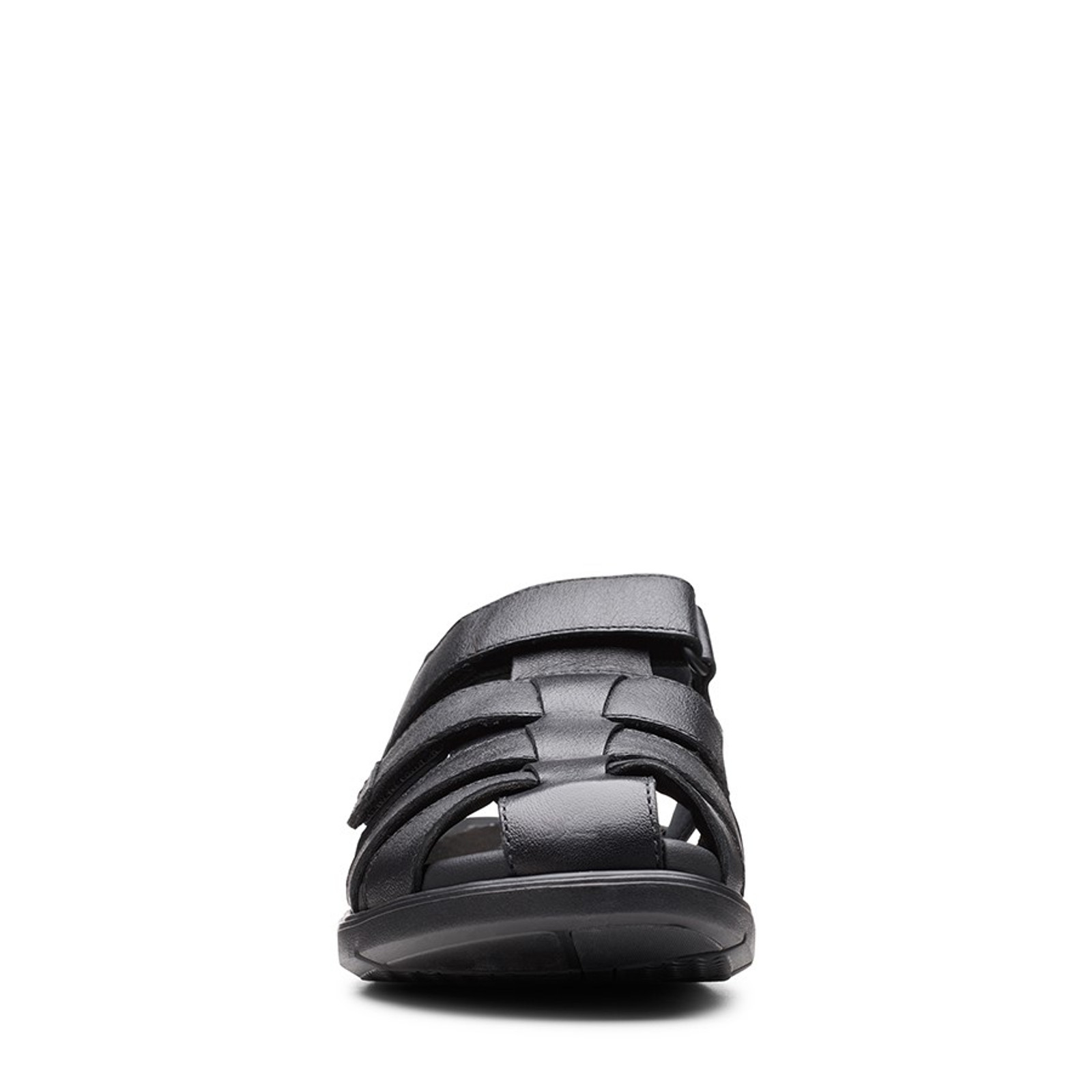 Clarks Mens UN WILMORE RAY Black Leather
