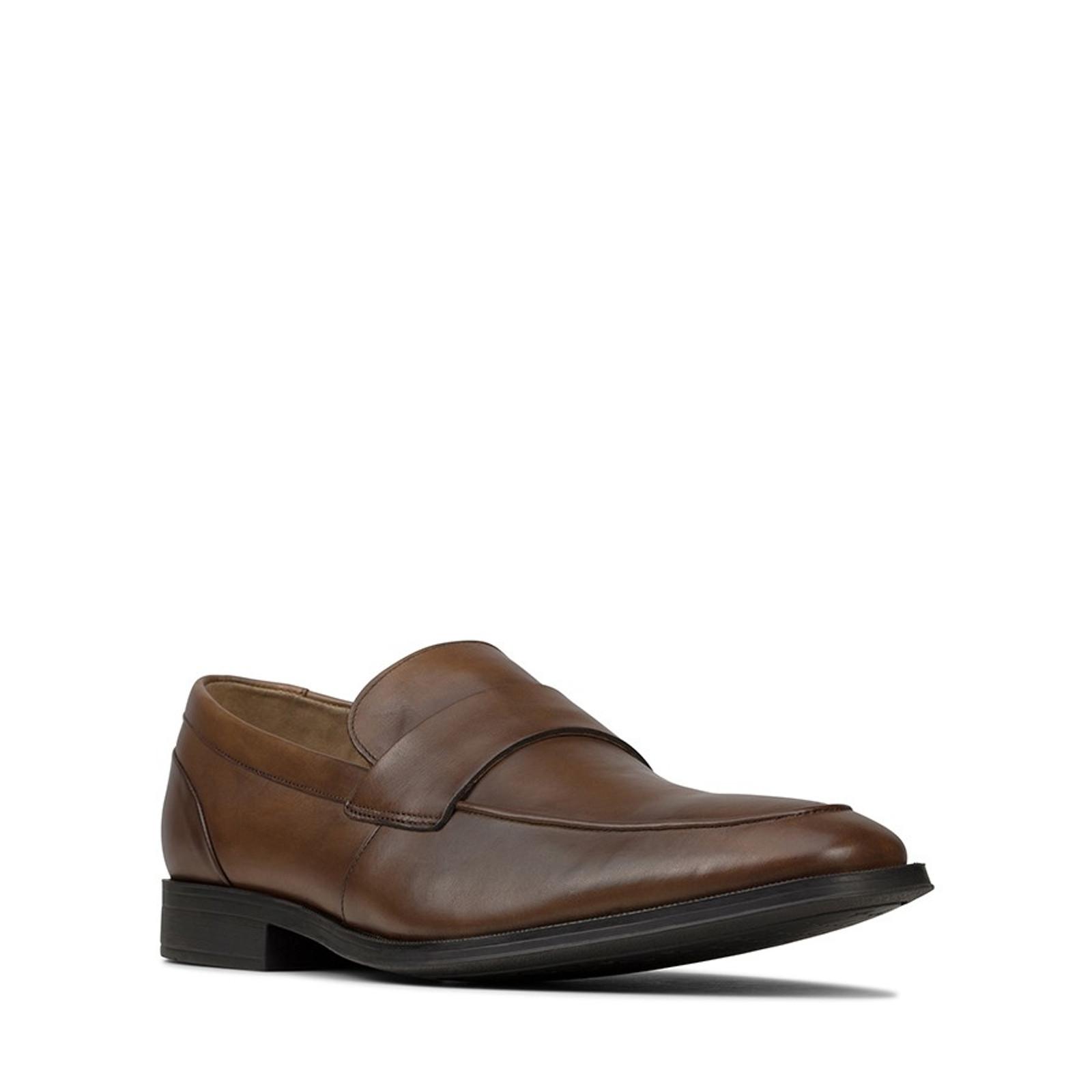 Clarks Mens GILMAN FREE Tan Leather