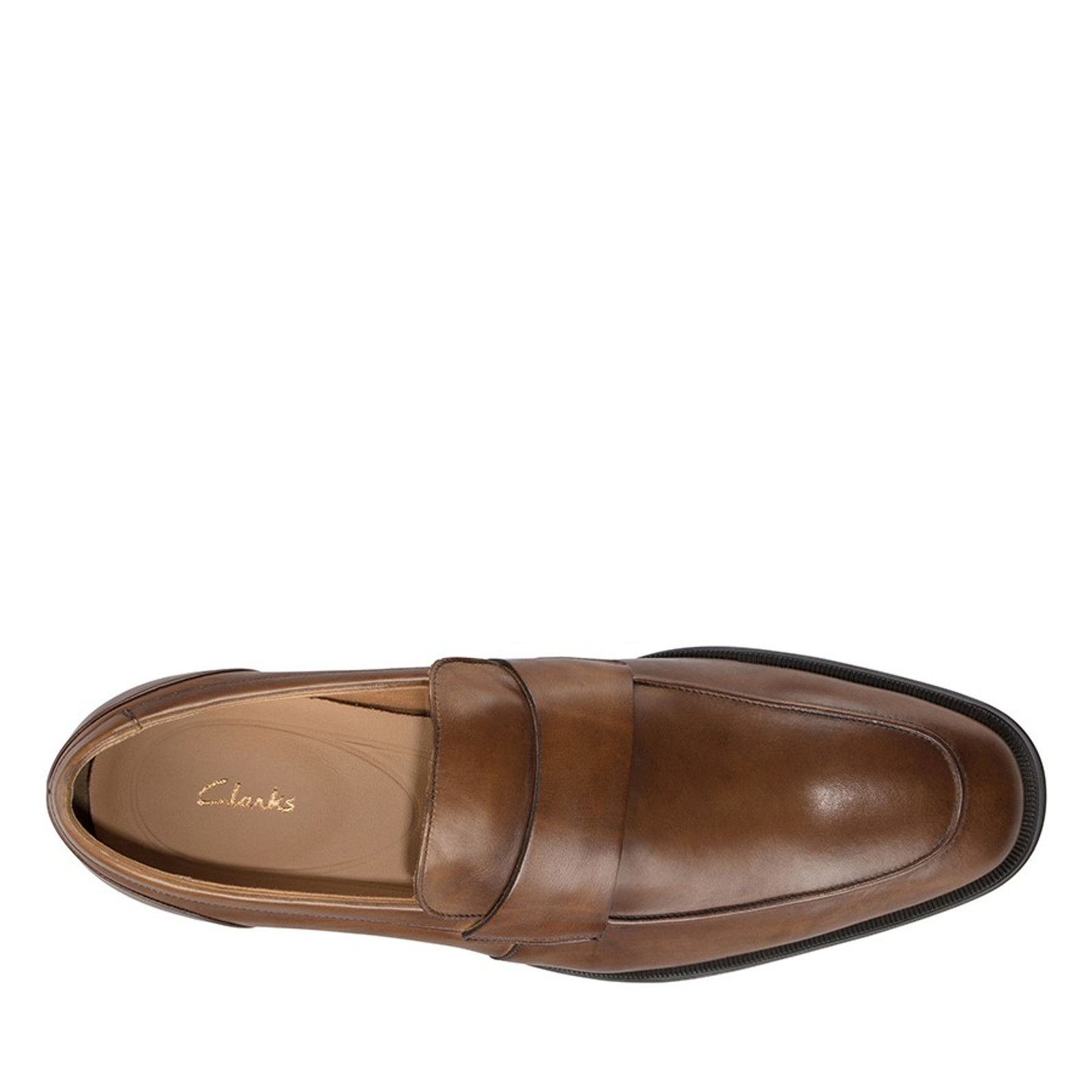 Clarks Mens GILMAN FREE Tan Leather