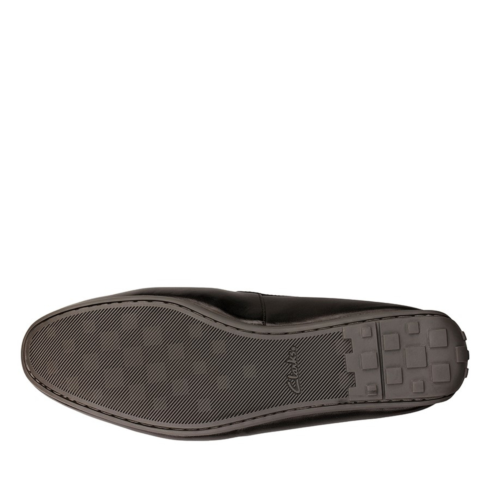 Clarks Mens REAZOR PLAIN Black Leather