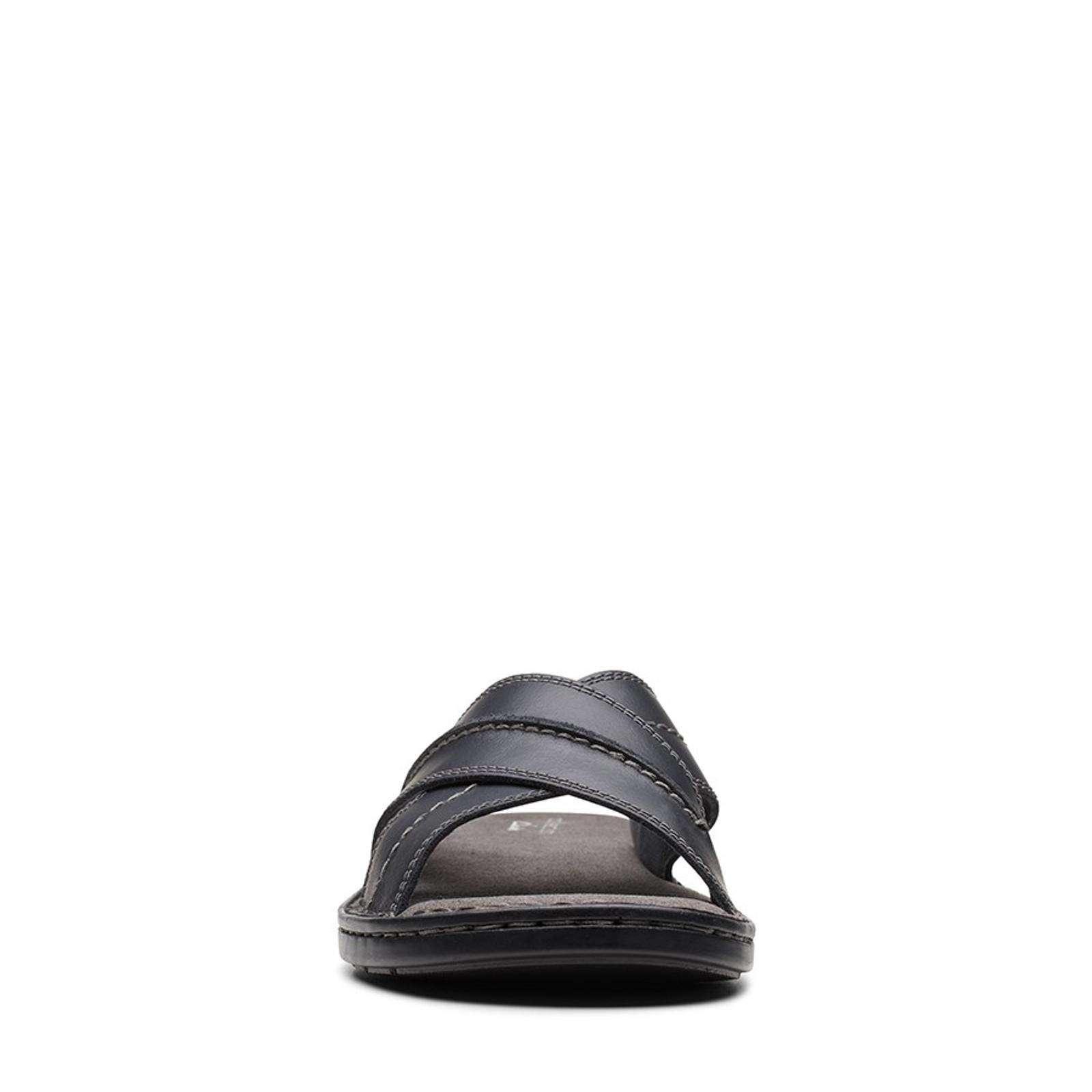 Clarks Mens MALONE CROSS Black Leather