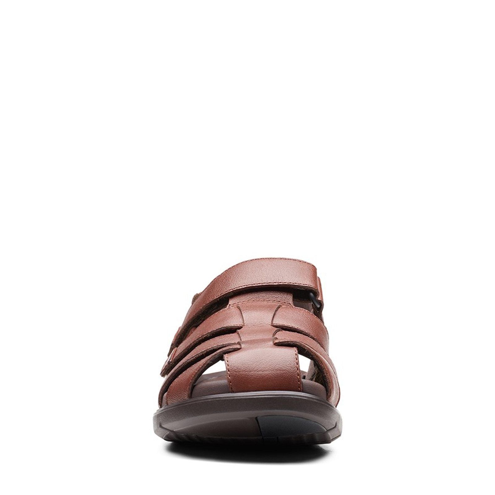 Clarks Mens UN WILMORE RAY Mahogany Leather
