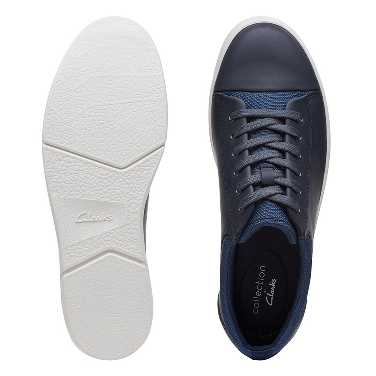 Clarks Mens LANDRY VIBE Navy Combo Leather