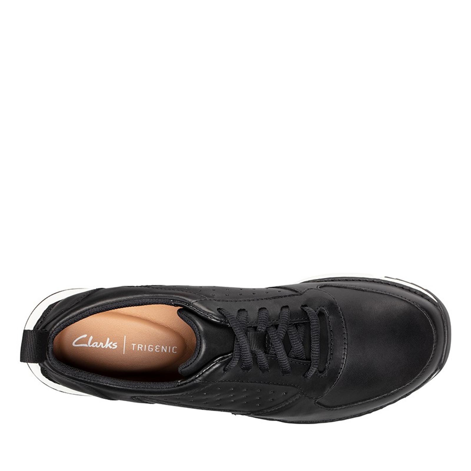 Clarks Mens TRI SPRINT Black Leather