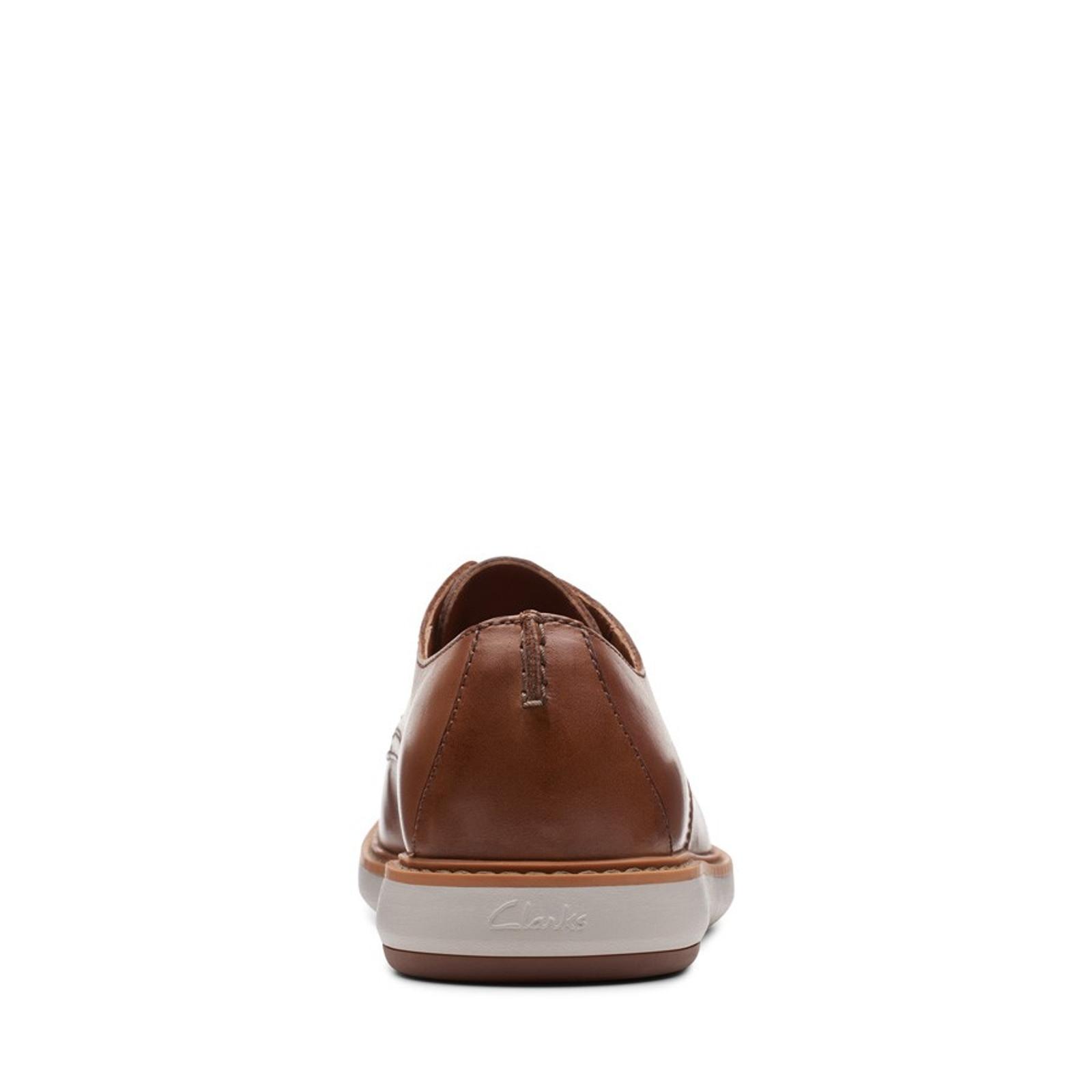 Clarks Mens DRAPER LACE Tan Leather