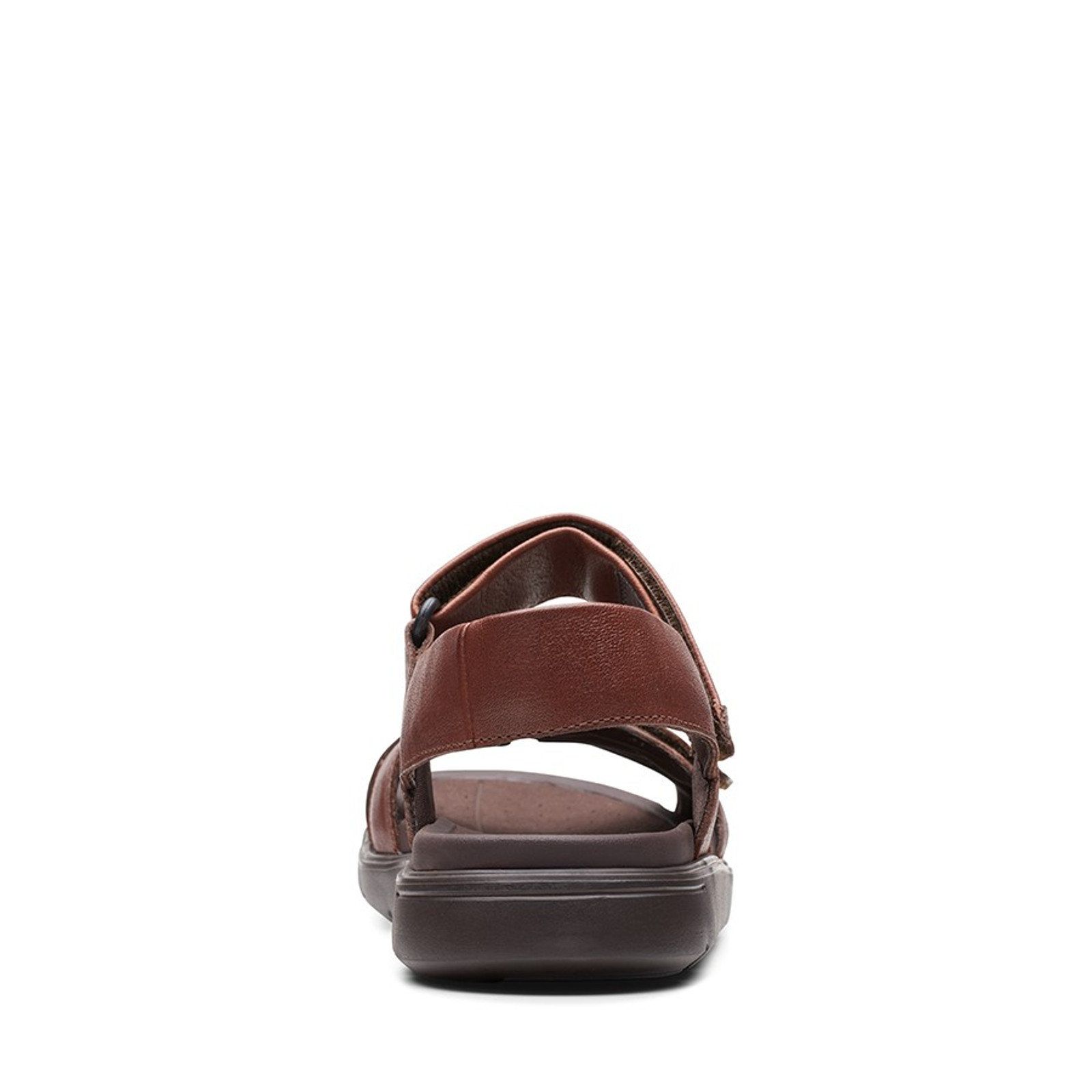 Clarks Mens UN WILMORE BAND Mahogany Leather